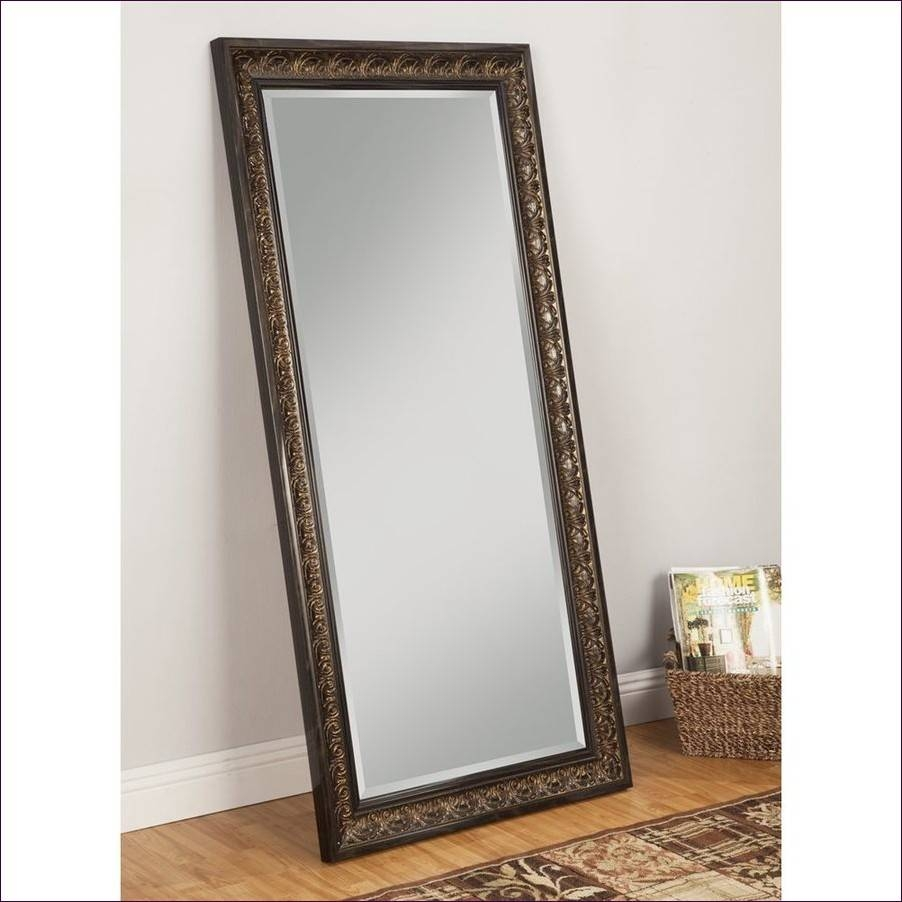 Furniture : Stand Alone Floor Mirror White Full Length Mirror with regard to Tall Silver Mirrors (Image 9 of 25)