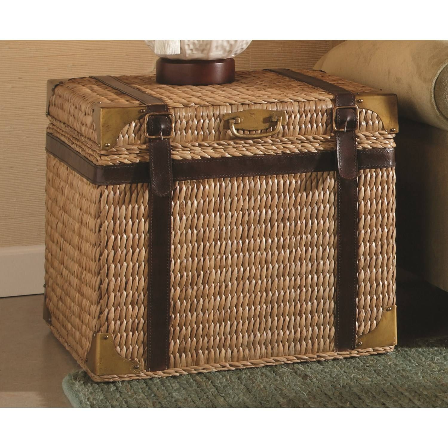 Furniture: Steamer Trunk End Table | Coffee Tables Trunks | Trunk in Steamer Trunk Stainless Steel Coffee Tables (Image 12 of 30)