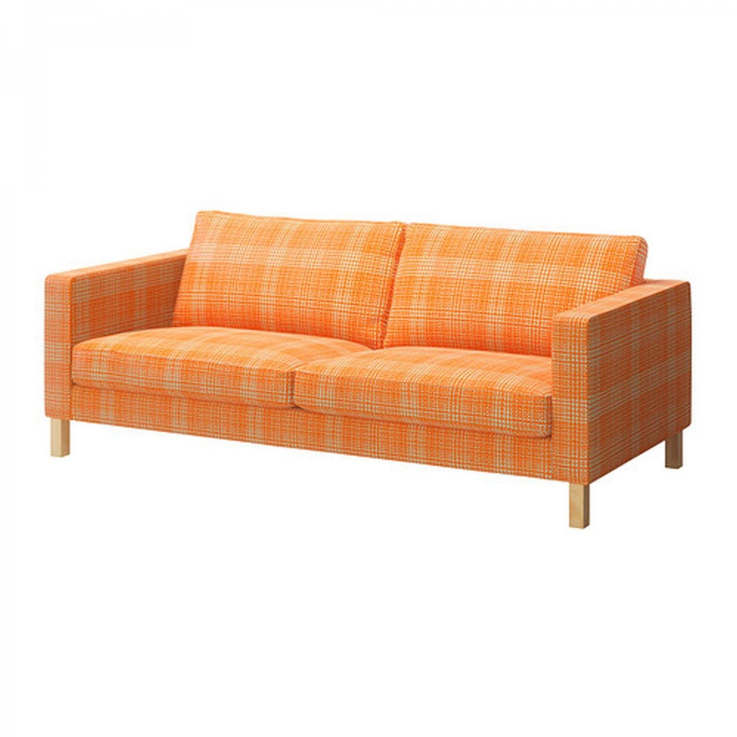 Furniture: Stunning Ikea Karlstad Sofa Cover For Your Sofa Need intended for Orange Ikea Sofas (Image 16 of 30)