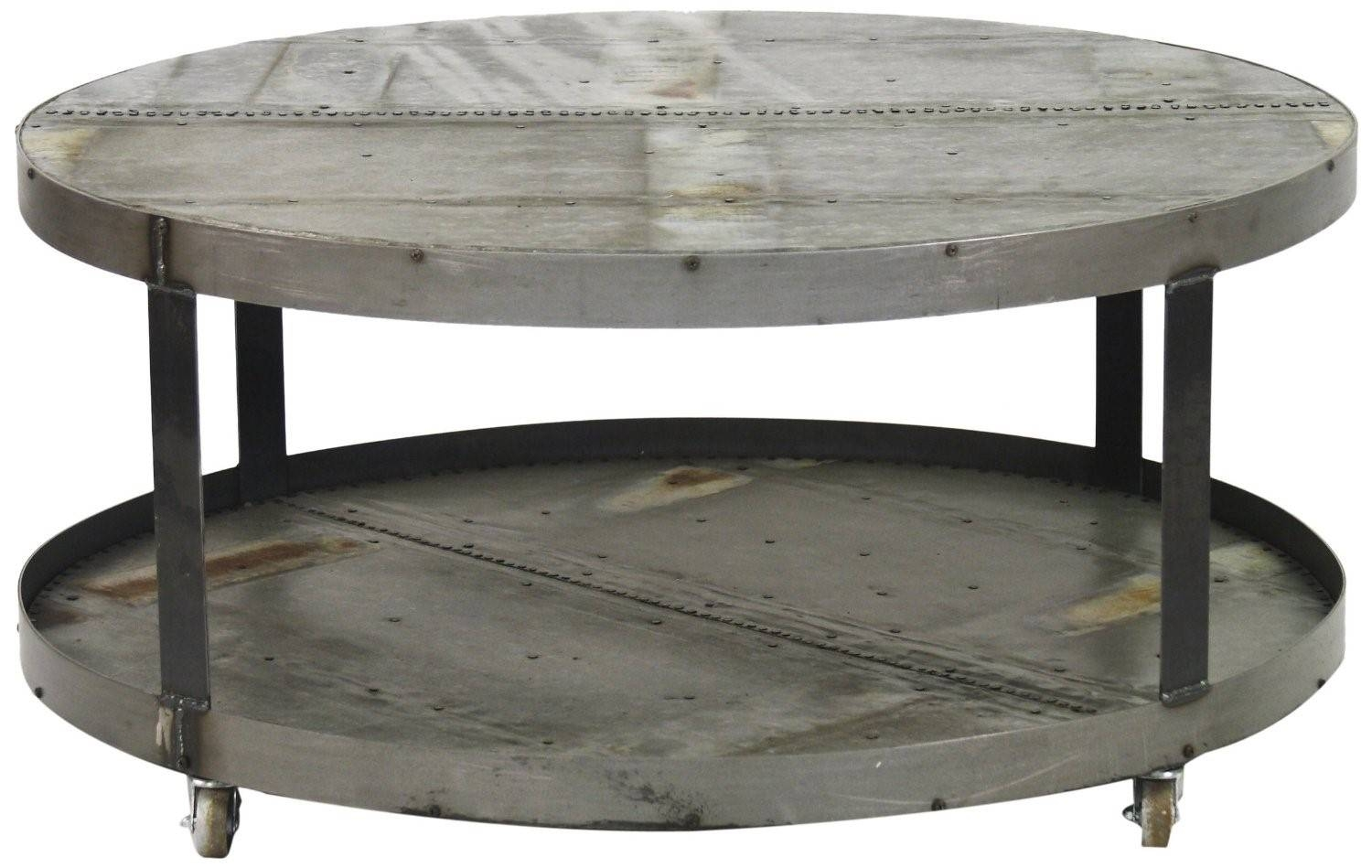 Furniture: Stunning Steel Coffee Table Ideas Metal Round Coffee With Metal Round Coffee Tables (View 4 of 12)