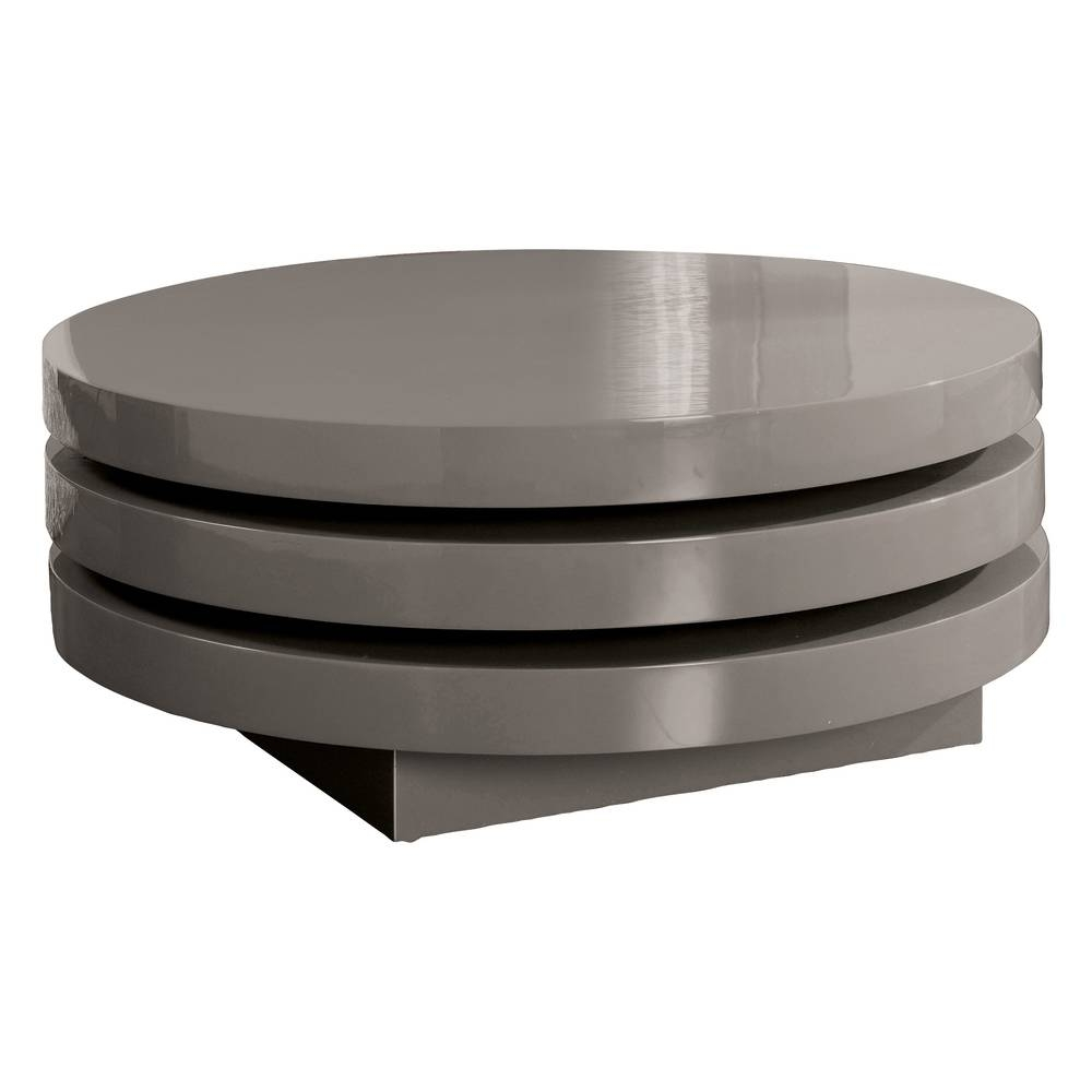 View Photos Of Round Swivel Coffee Tables Showing Of Photos - Round rotating coffee table