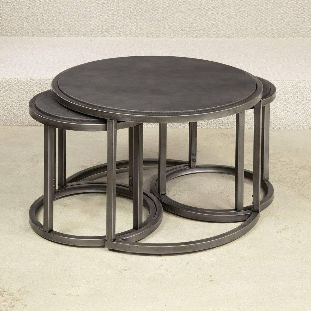 Furniture: Timeless Piece Of Furniture For Your Home With Round Inside Stackable Coffee Tables (View 13 of 30)