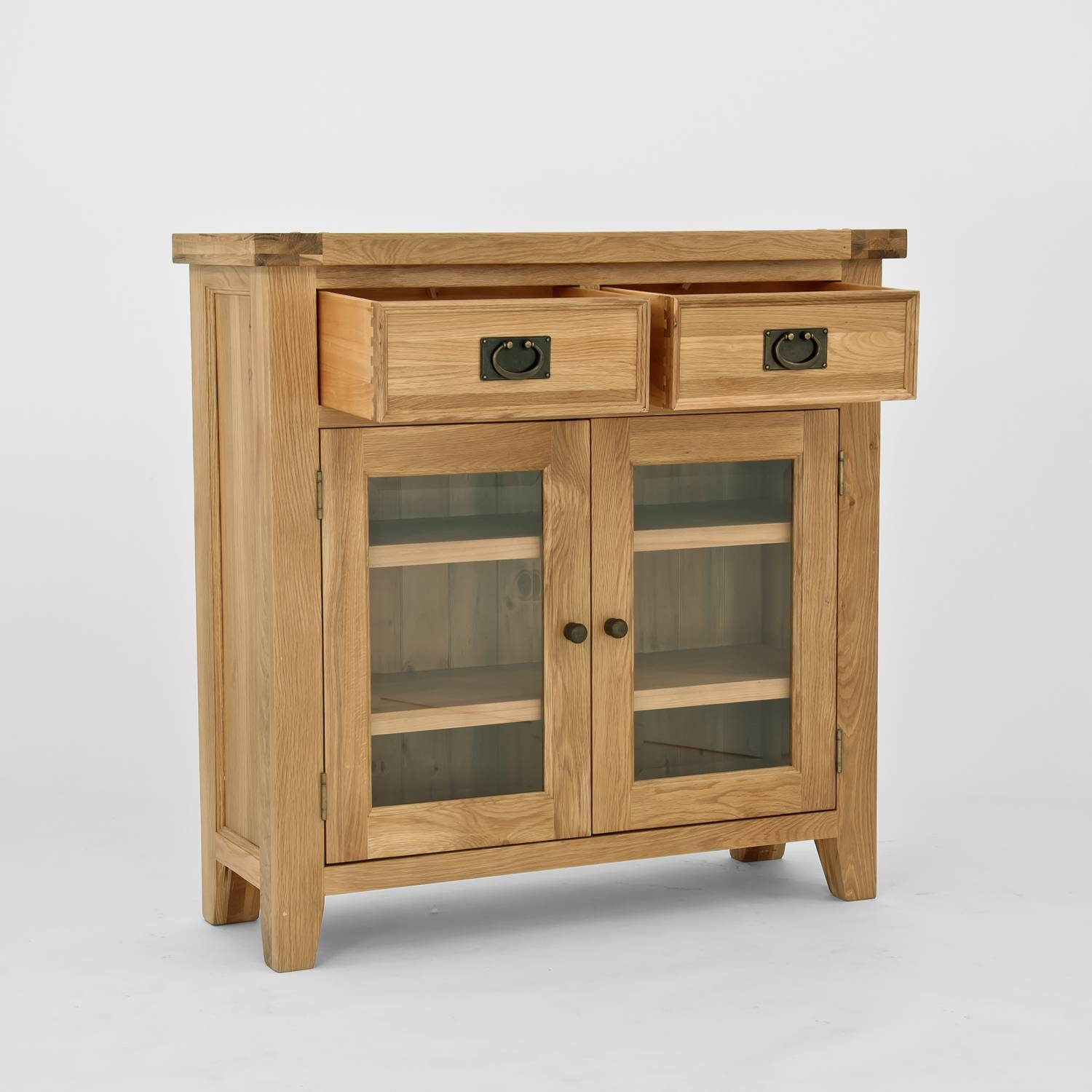 Furniture. Un Polish Wooden Bookcase With Glass Doors Chiltern Oak in Sideboards With Glass Doors (Image 6 of 30)