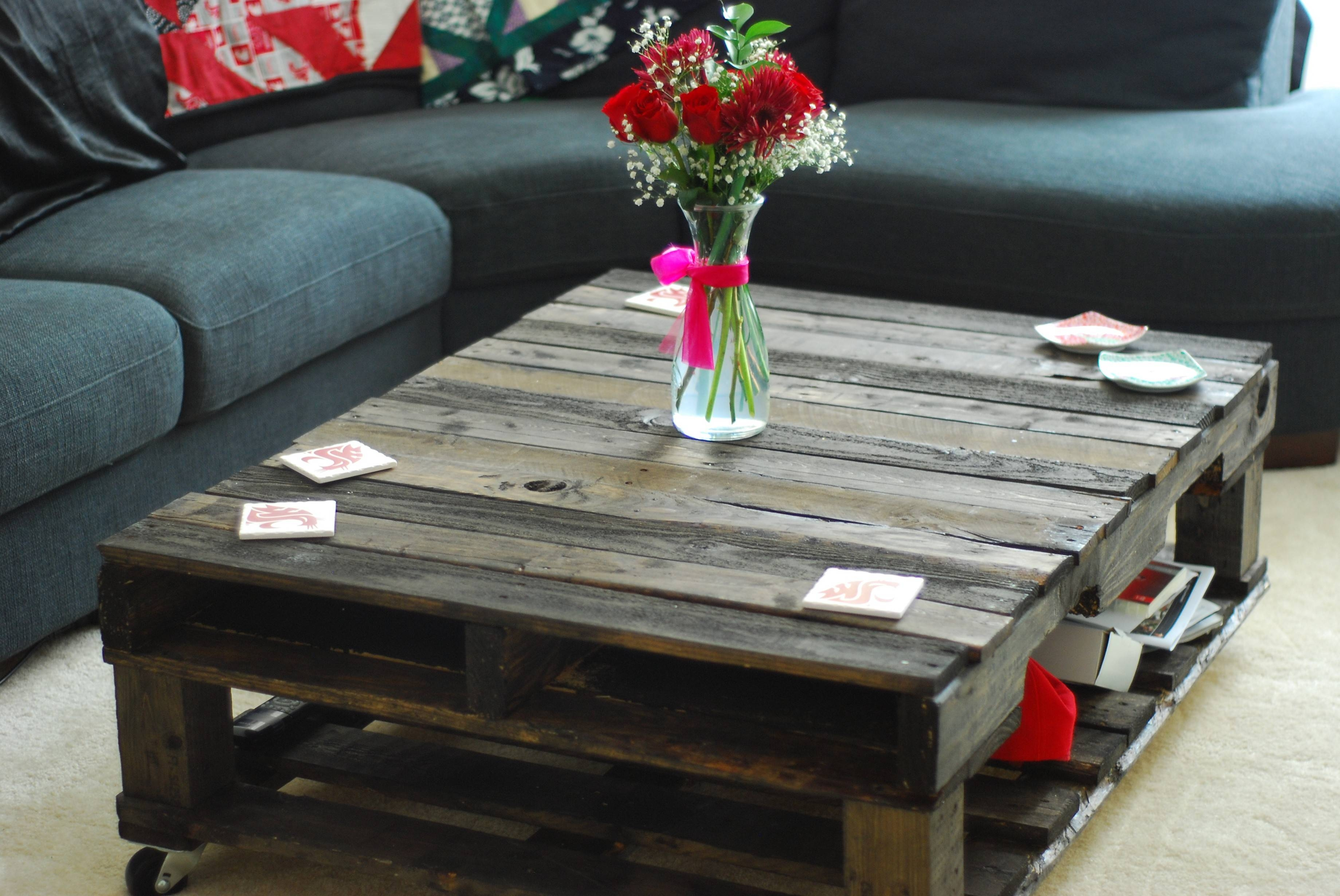 Furniture: Unique Homemade Coffee Table For More Project Ideas inside Round Red Coffee Tables (Image 11 of 30)