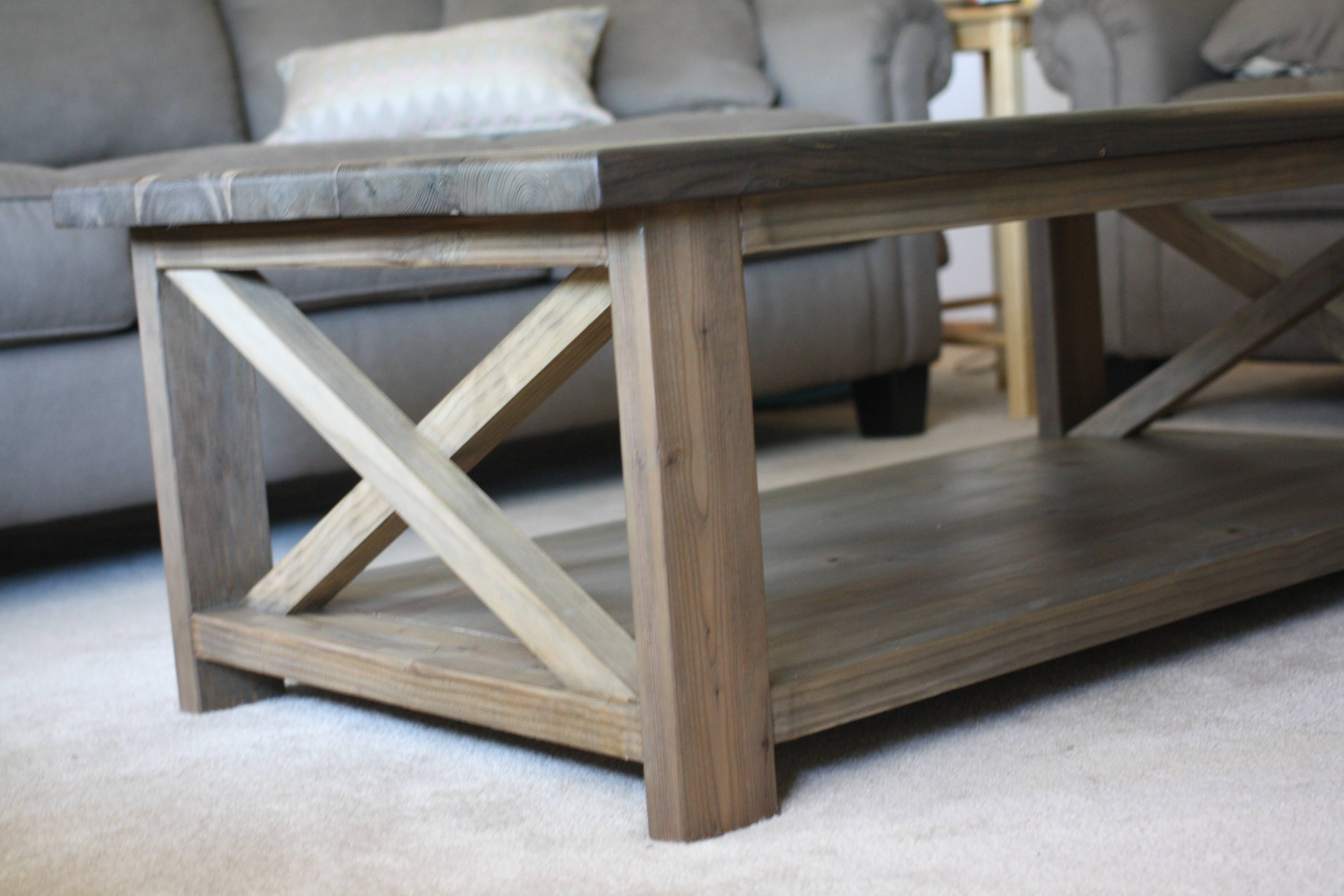 Furniture: Unique Rustic Coffee Table For Elegant Living Room regarding Grey Wood Coffee Tables (Image 18 of 30)