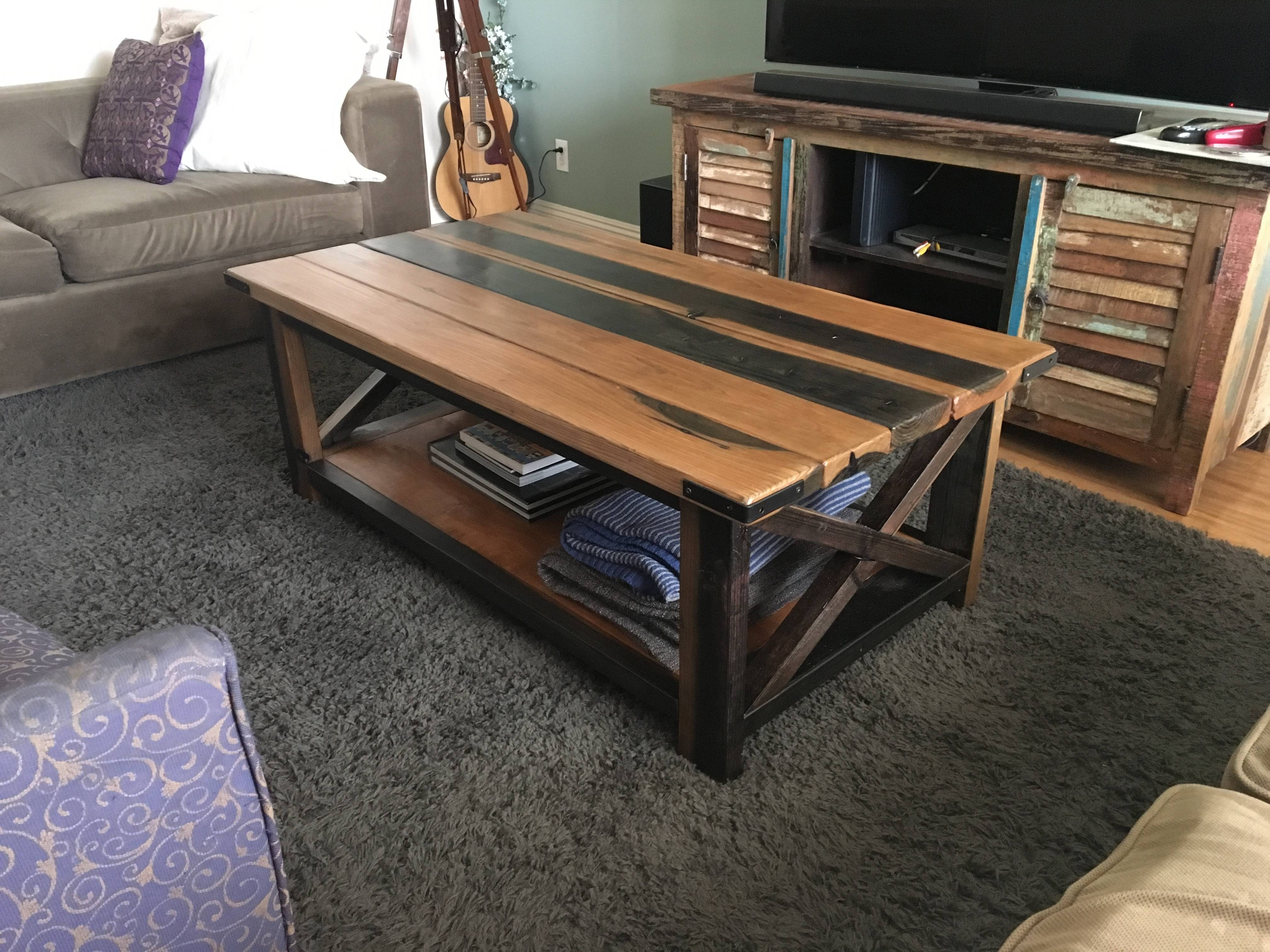 Furniture: Unique Rustic Coffee Table For Elegant Living Room throughout Rustic Storage Diy Coffee Tables (Image 17 of 30)
