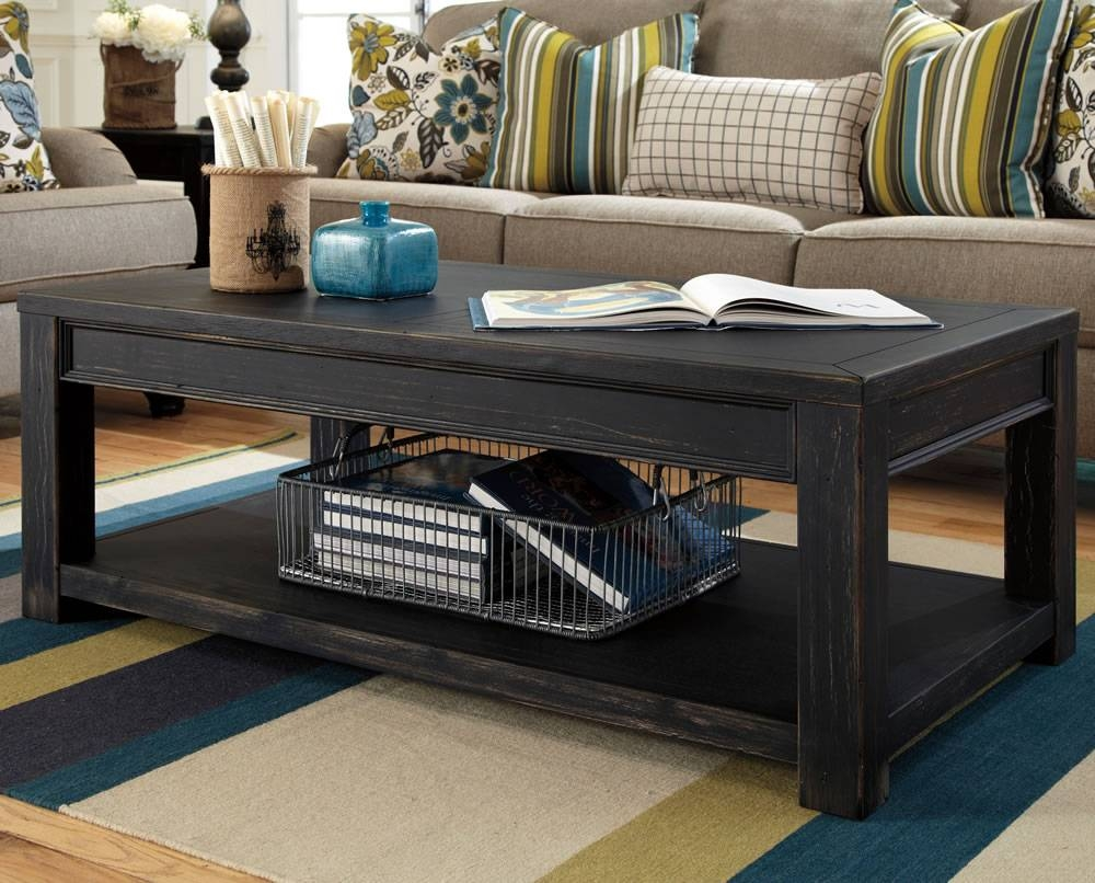 Furniture: Unique Rustic Coffee Table For Elegant Living Room within Black Wood Coffee Tables (Image 27 of 30)