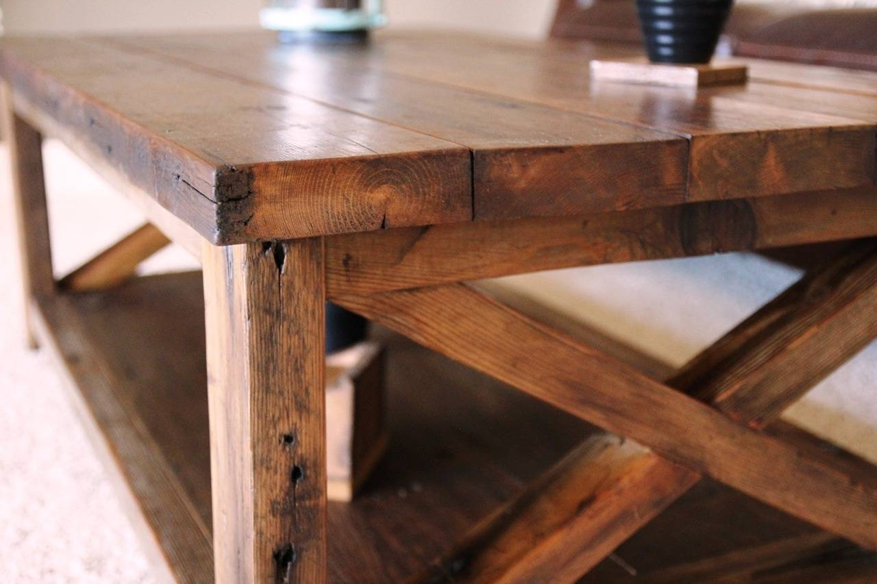 Furniture: Unique Rustic Coffee Tables | Rustic Square Coffee in Square Shaped Coffee Tables (Image 12 of 30)