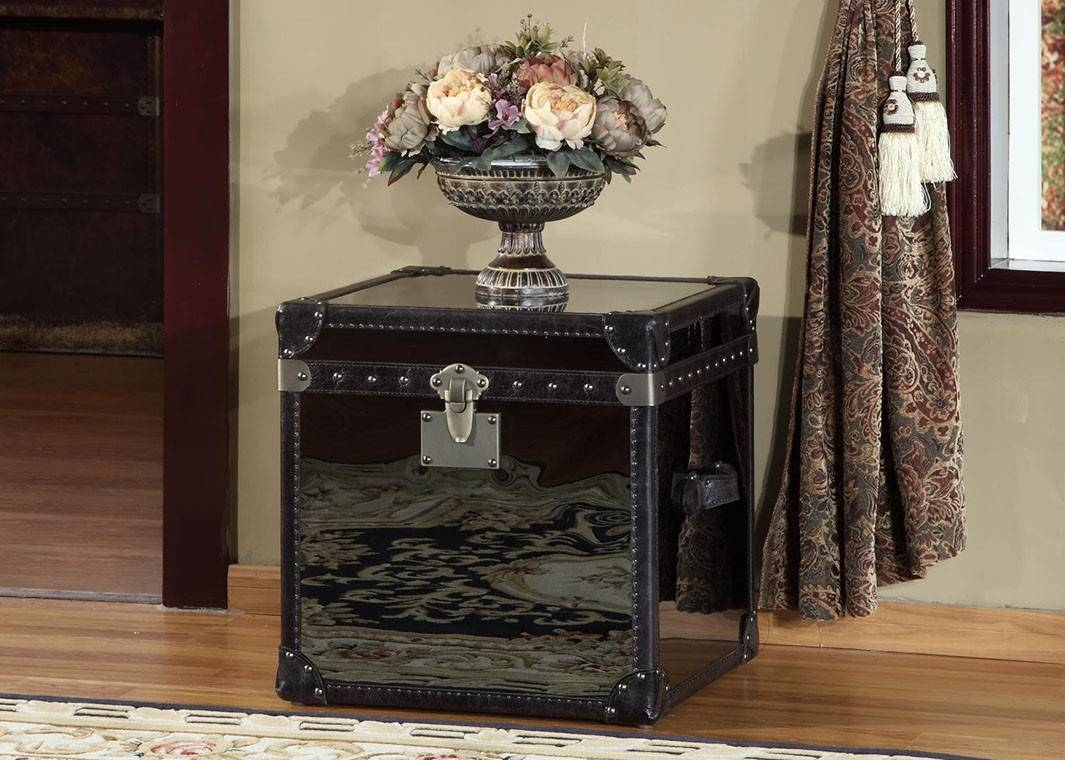Furniture: Unique Trunk End Table Design For Home Furniture Ideas in Steamer Trunk Stainless Steel Coffee Tables (Image 13 of 30)
