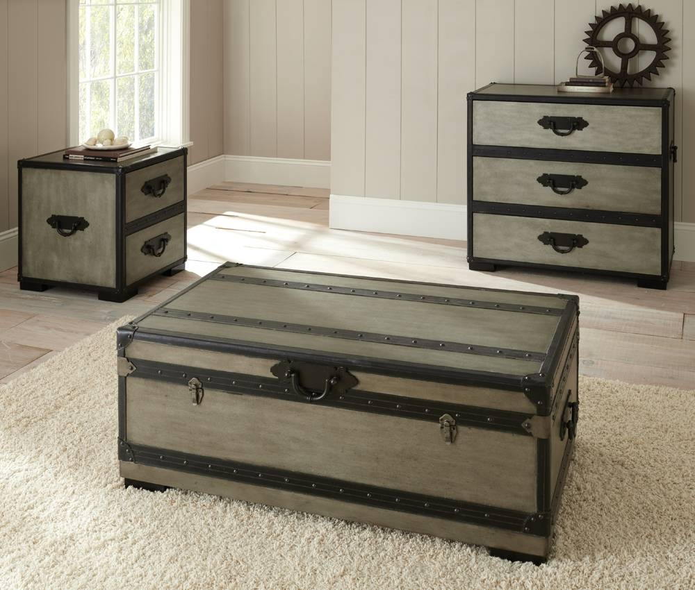 Furniture: Unique Trunk End Table Design For Home Furniture Ideas inside Stainless Steel Trunk Coffee Tables (Image 8 of 30)