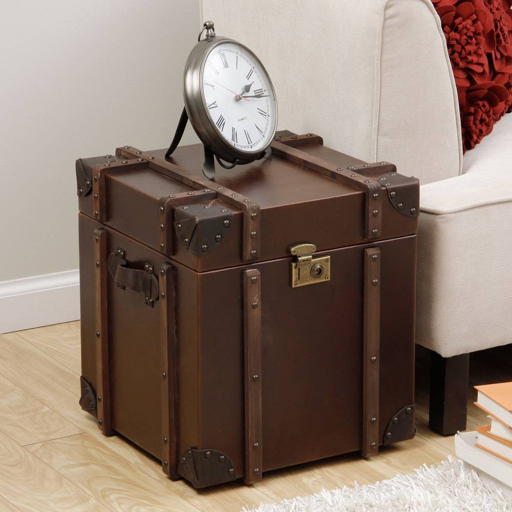 Furniture: Unique Trunk End Table Design For Home Furniture Ideas with Stainless Steel Trunk Coffee Tables (Image 11 of 30)