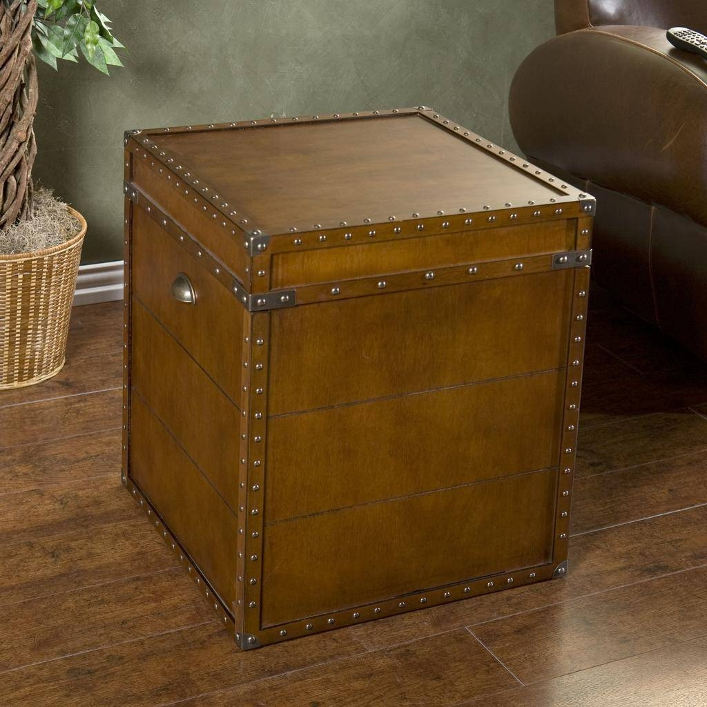Furniture: Unique Trunk End Table Design For Home Furniture Ideas within Square Chest Coffee Tables (Image 15 of 30)