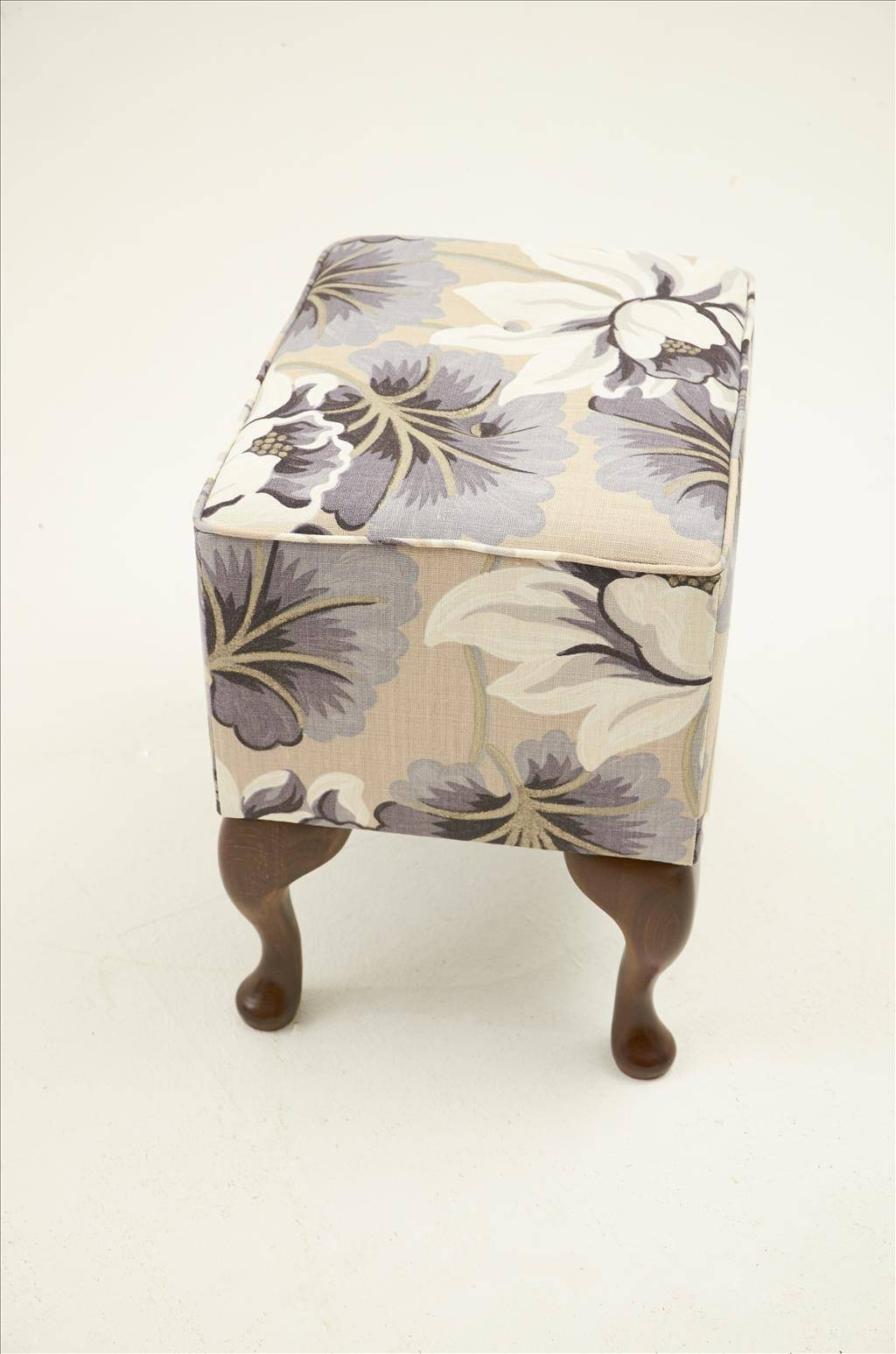 Furniture: Up Your Legs Onfabric Footstools Small Padded Footstool within Fabric Footstools (Image 16 of 30)