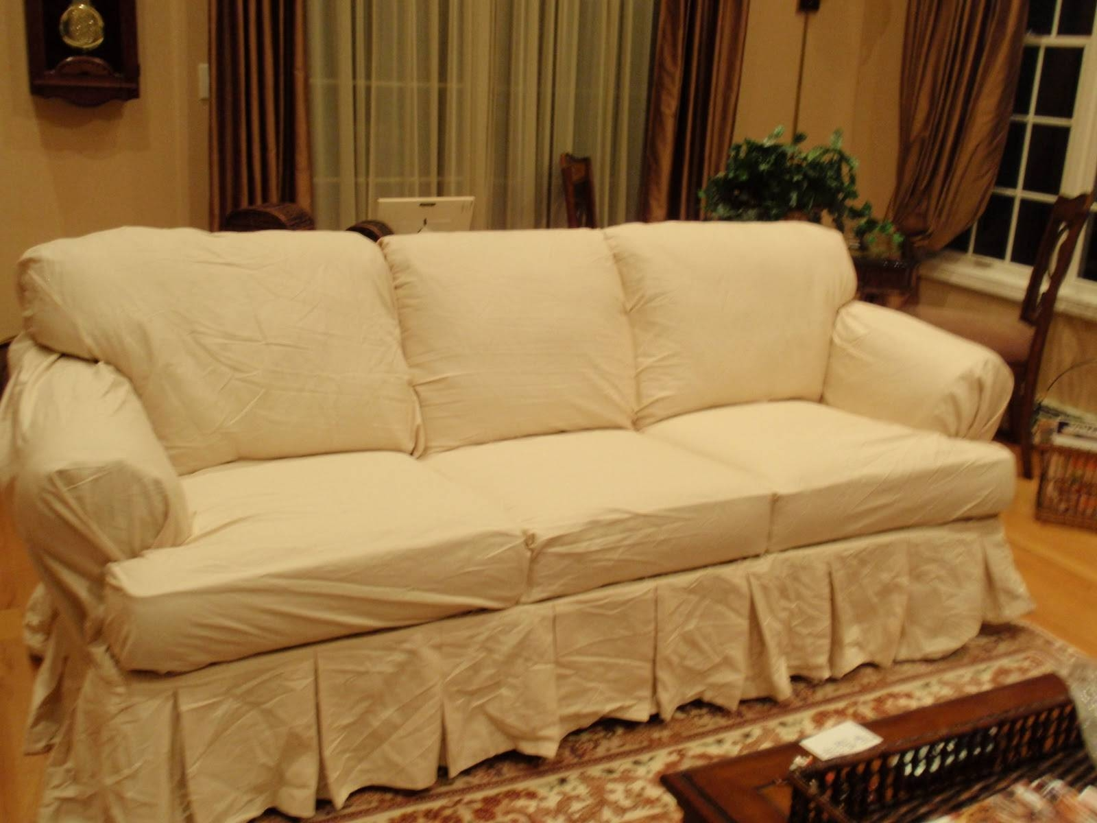 Furniture: Update Your Living Room With Best Sofa Slipcover Design pertaining to Slipcovers Sofas (Image 13 of 30)
