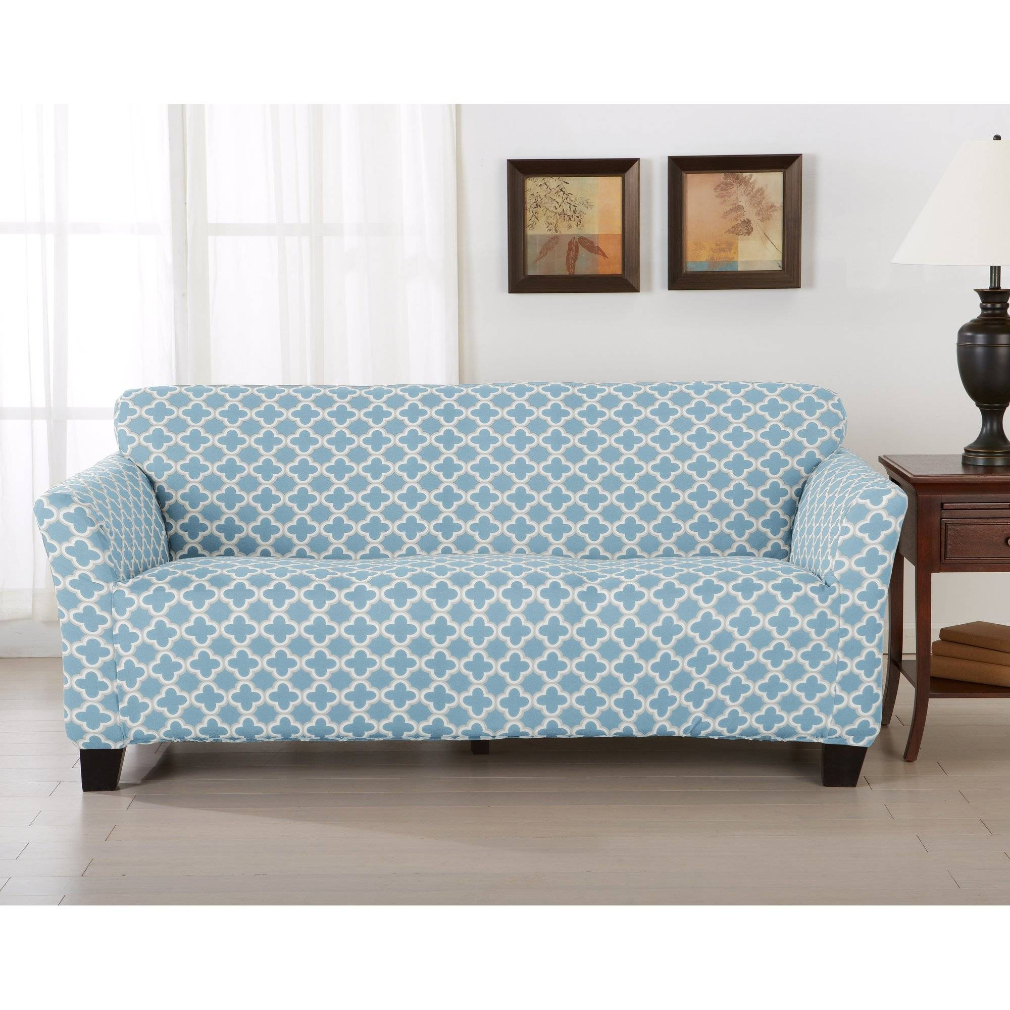 Furniture: Update Your Living Room With Best Sofa Slipcover Design throughout Teal Sofa Slipcovers (Image 7 of 30)
