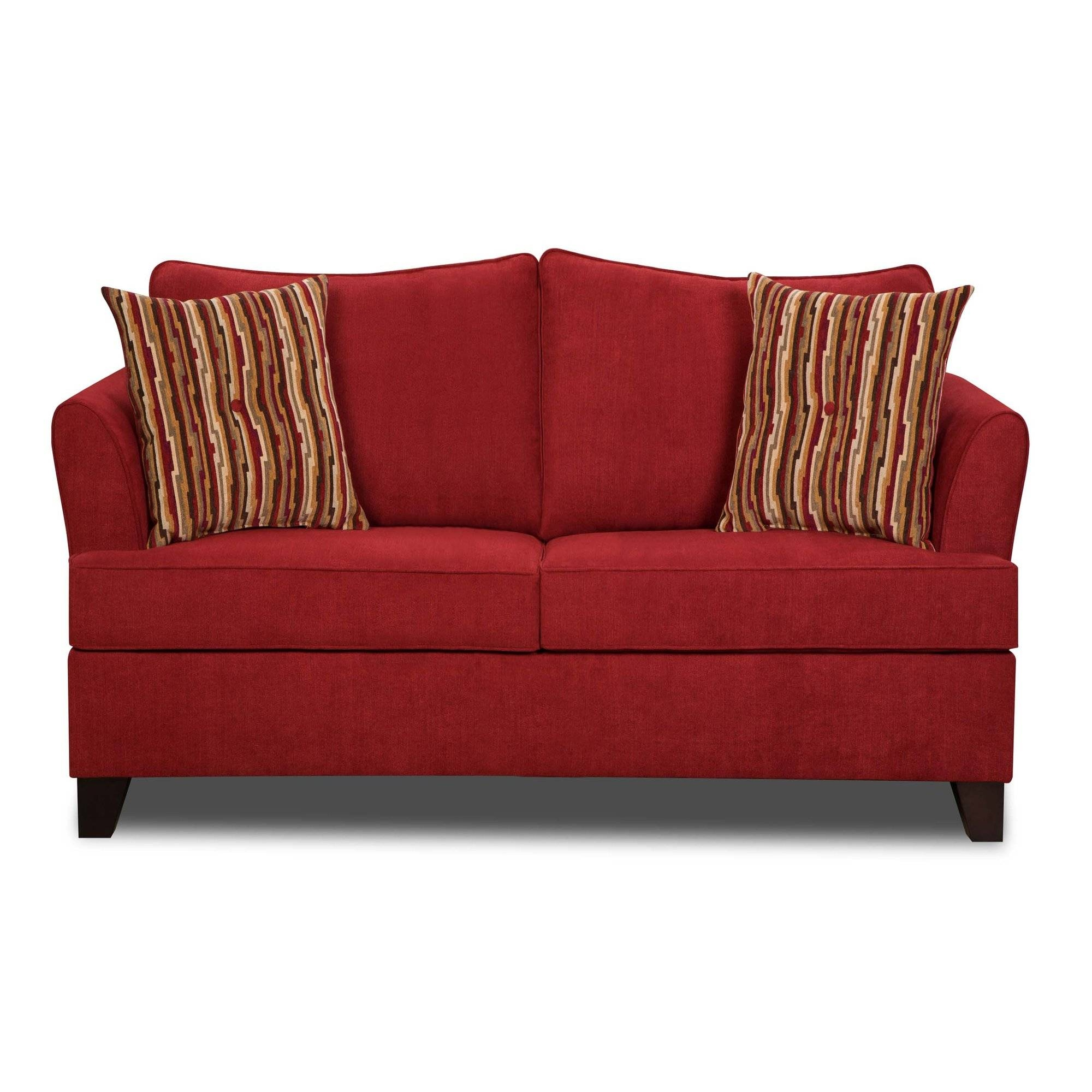 Furniture: Using Comfy Simmons Sleeper Sofa For Home Furniture pertaining to Red Sleeper Sofa (Image 8 of 30)