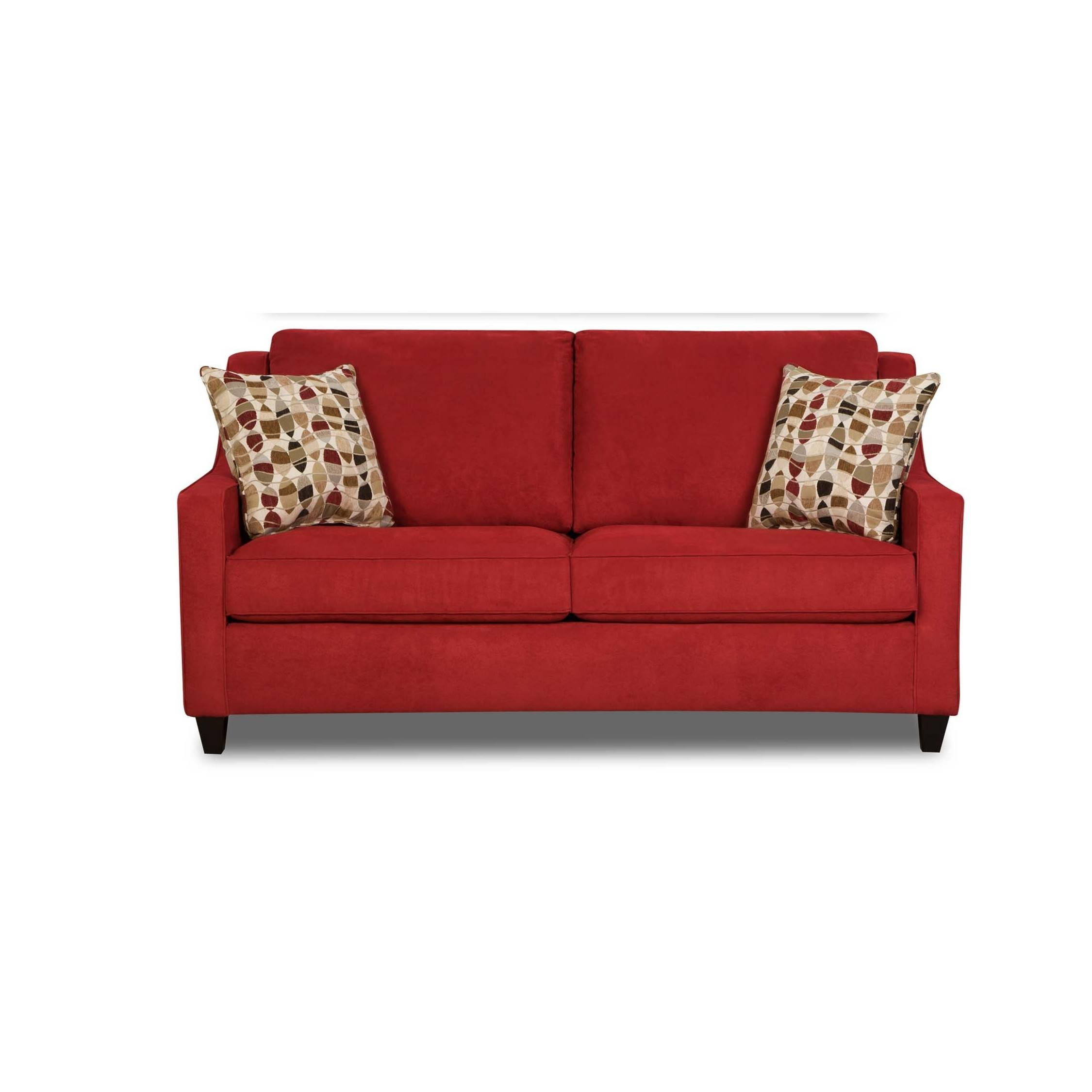 Furniture: Using Comfy Simmons Sleeper Sofa For Home Furniture within Red Sleeper Sofa (Image 10 of 30)