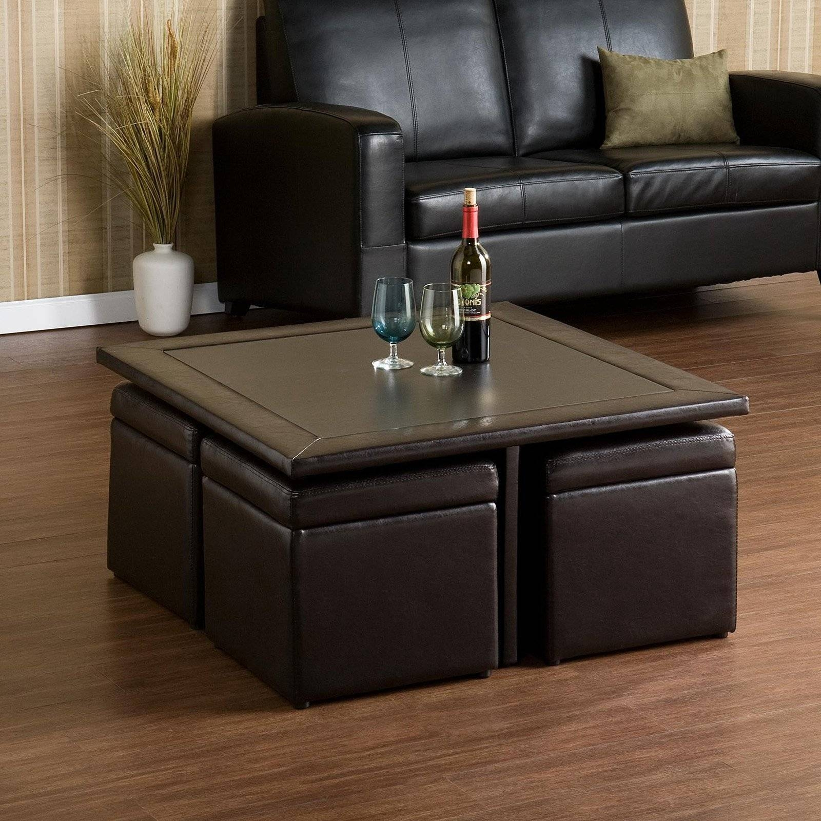 Furniture: Walmart Ottoman For Concealed Storage Space — Kool-Air throughout Coffee Tables With Shelf Underneath (Image 21 of 30)
