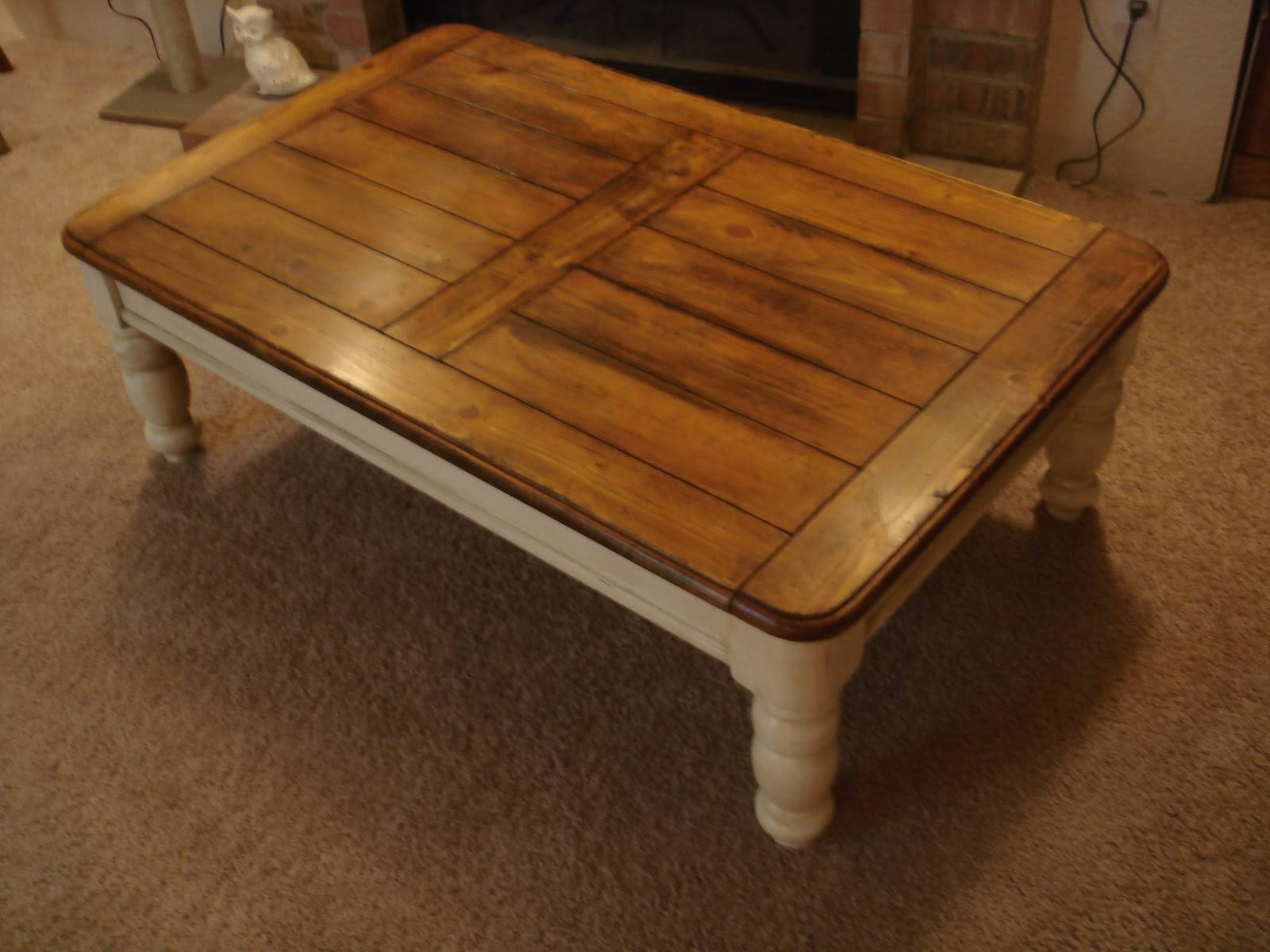 Furniture: Weathered Coffee Table | Distressed Coffee Tables throughout Cream and Oak Coffee Tables (Image 24 of 30)