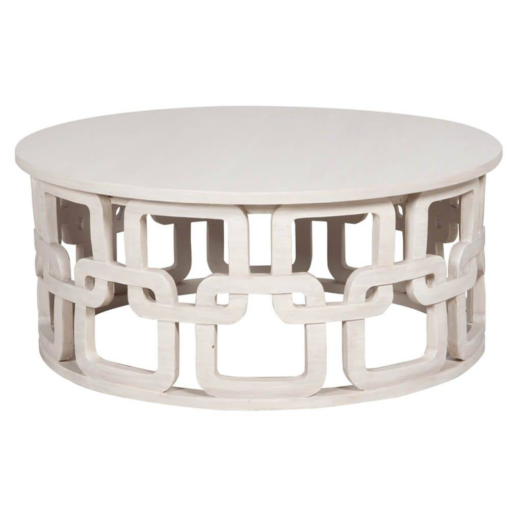 Furniture: White Small Round Coffee Table With Unique Design - The with regard to White Circle Coffee Tables (Image 15 of 30)