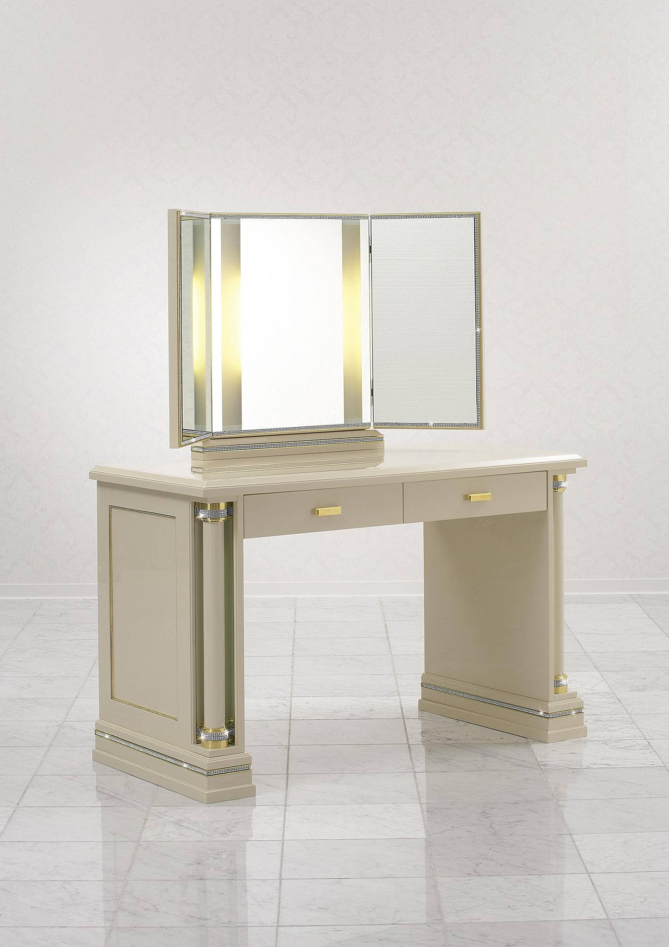 Furniture With Swarovski Crystals - Piato | Finkeldei inside Illuminated Dressing Table Mirrors (Image 20 of 25)