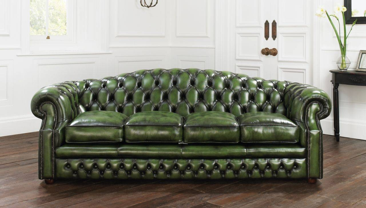 Furniture. Wonderful Furniture For Designing Glamorous Living Room within Tufted Leather Chesterfield Sofas (Image 9 of 30)