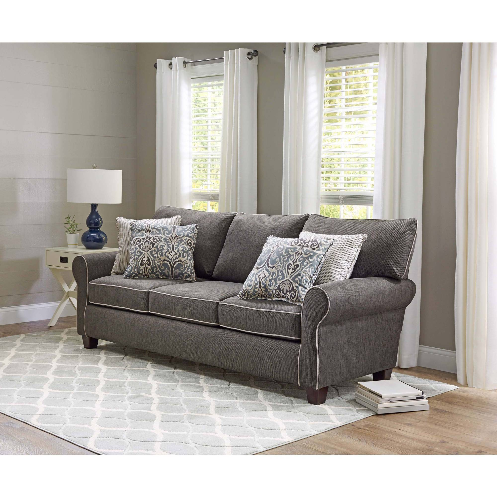 Furniture: Wonderful Walmart Couch Covers Design For Alluring throughout 3 Piece Sectional Sofa Slipcovers (Image 14 of 33)