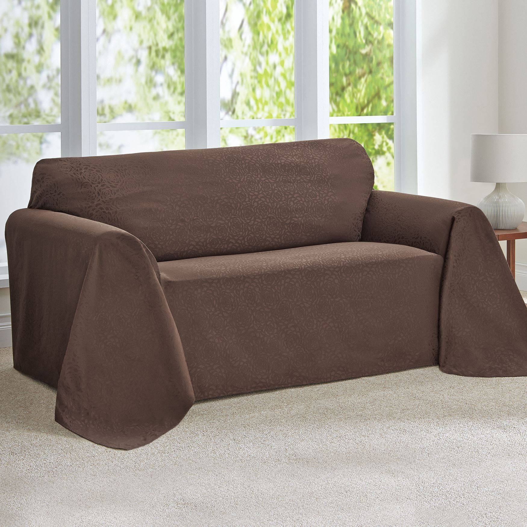 Furniture: Wonderful Walmart Couch Covers Design For Alluring within Covers For Sofas And Chairs (Image 8 of 15)