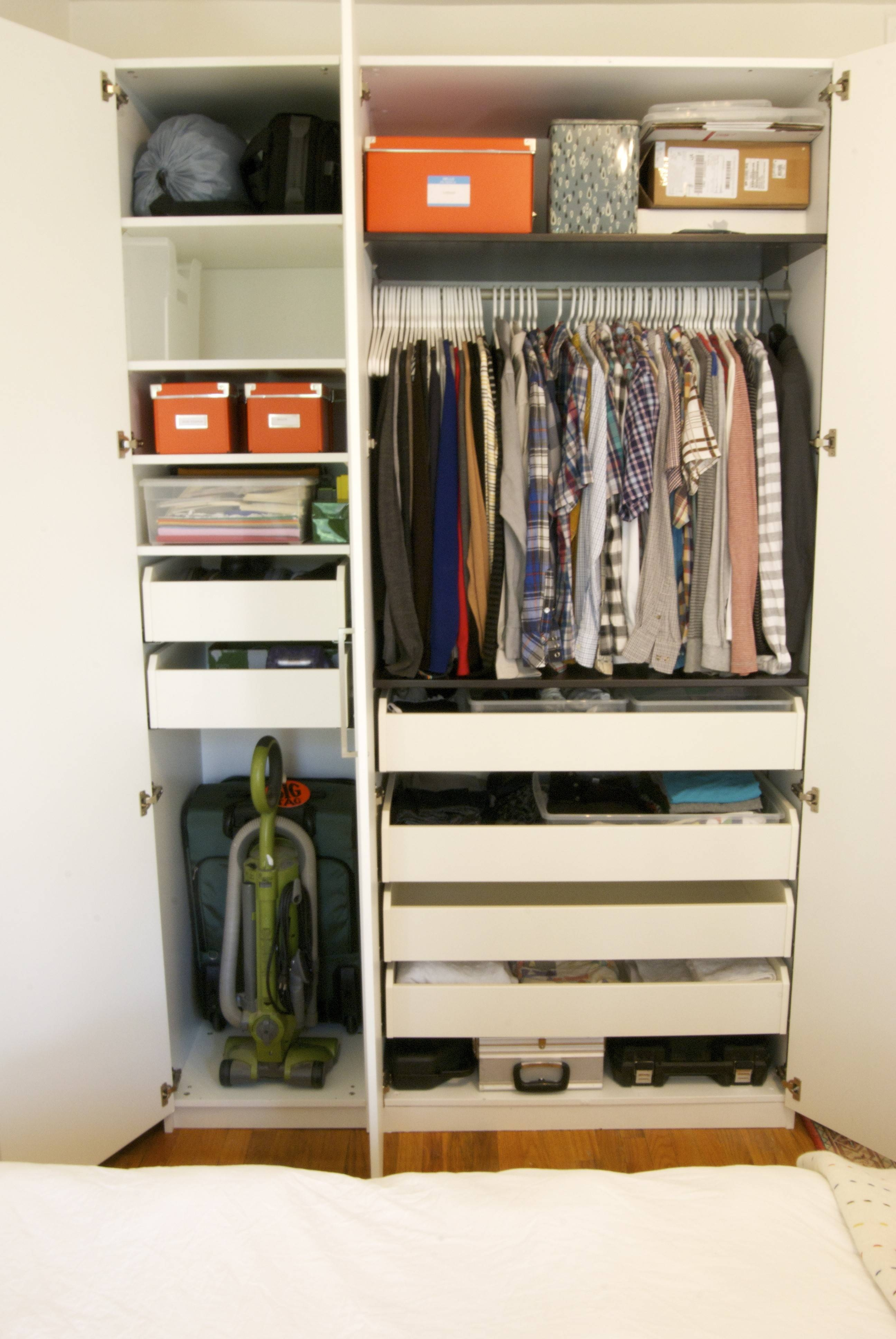 Furniture. Wonderful Wardrobe With Drawers Inside Give More Space for Wardrobes With Shelves and Drawers (Image 13 of 30)