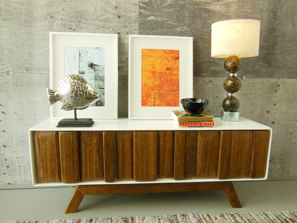 Furniture: Wood Buffets Credenzas And Sideboards With Modern for Narrow Sideboards (Image 10 of 30)