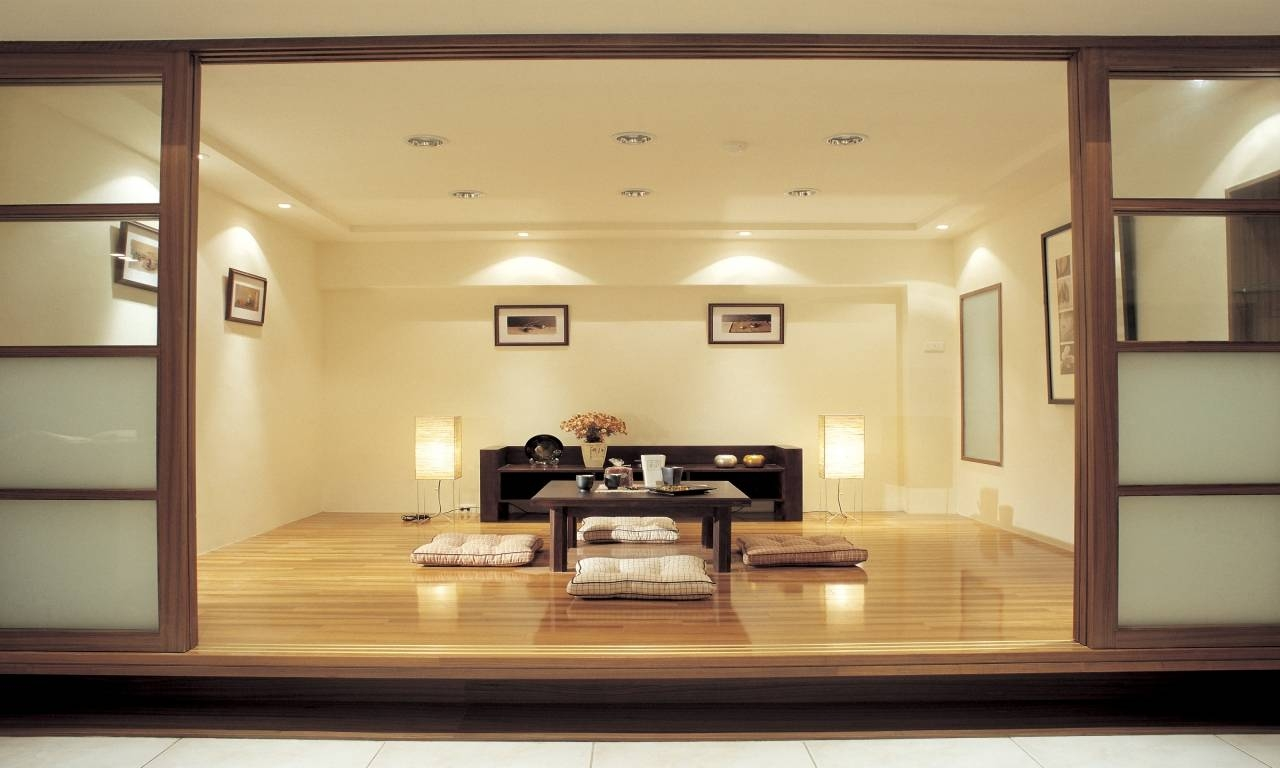 Furniture : Zen Living Room With Long White Modern Sofa And Low Within Low Japanese Style Coffee Tables (View 23 of 30)