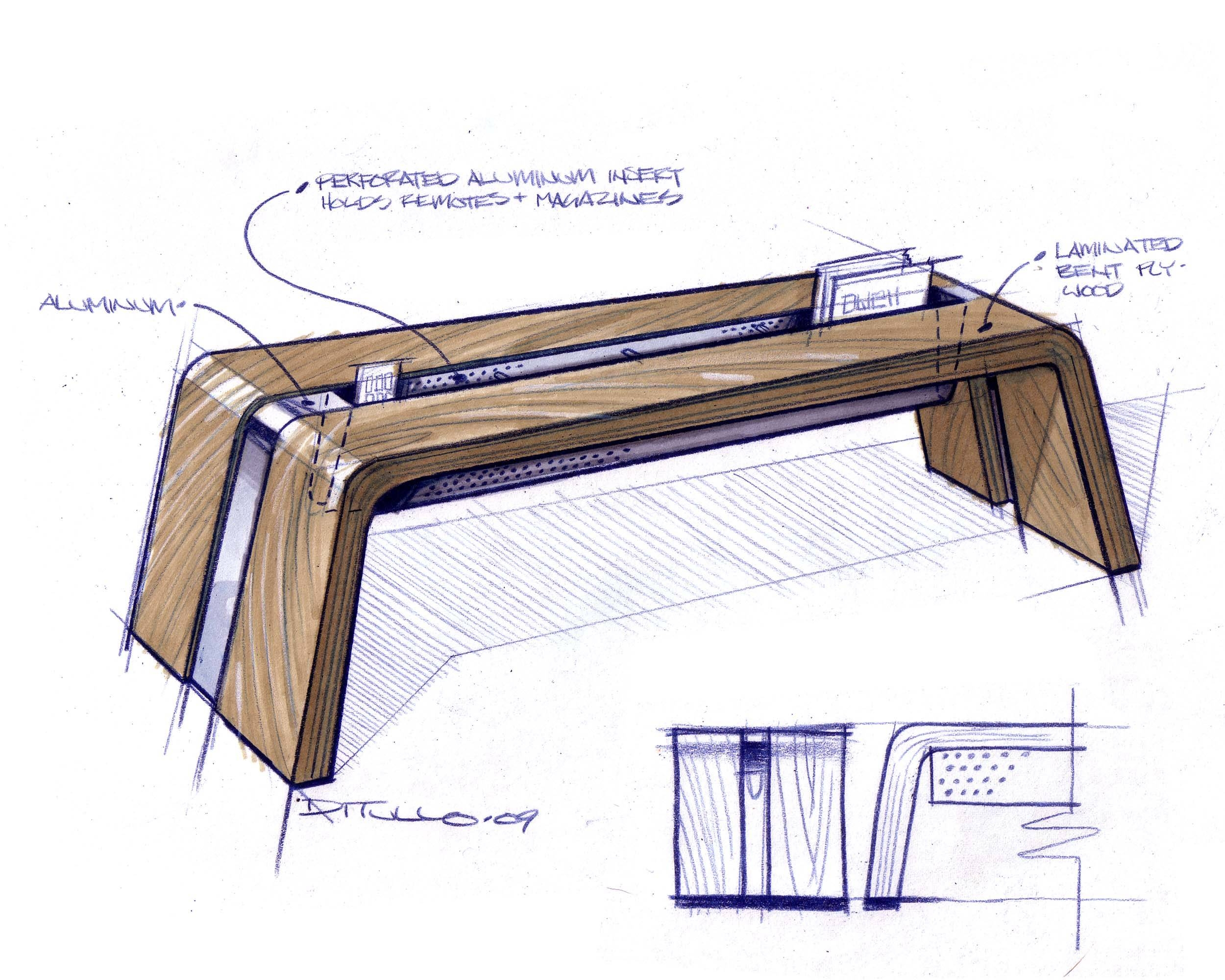 Furnituremichael Ditullo At Coroflot within Coffee Tables With Magazine Storage (Image 20 of 30)