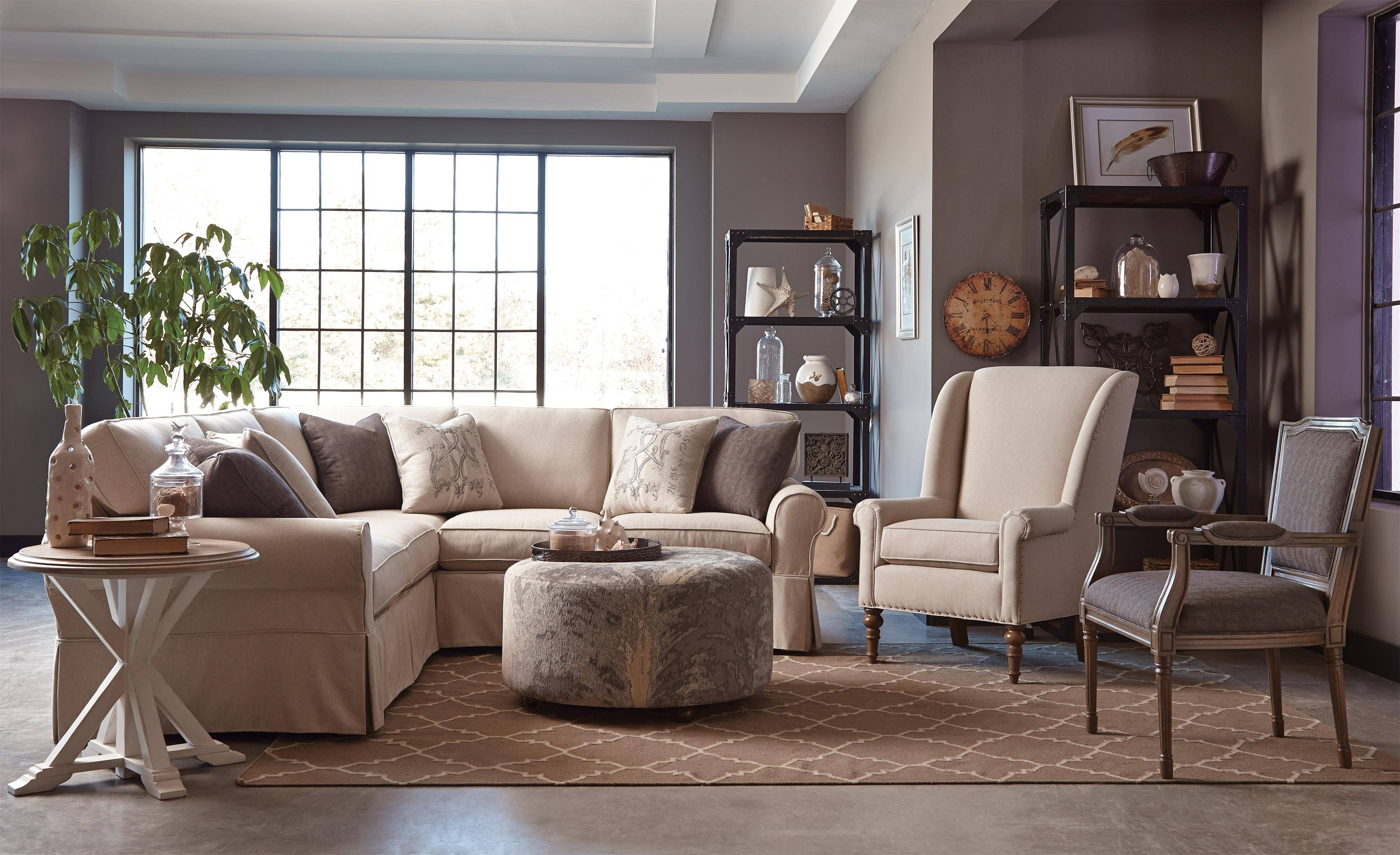 Furnitures: Fill Your Home With Luxury Craftmaster Furniture For throughout Craftsman Sectional Sofa (Image 18 of 30)