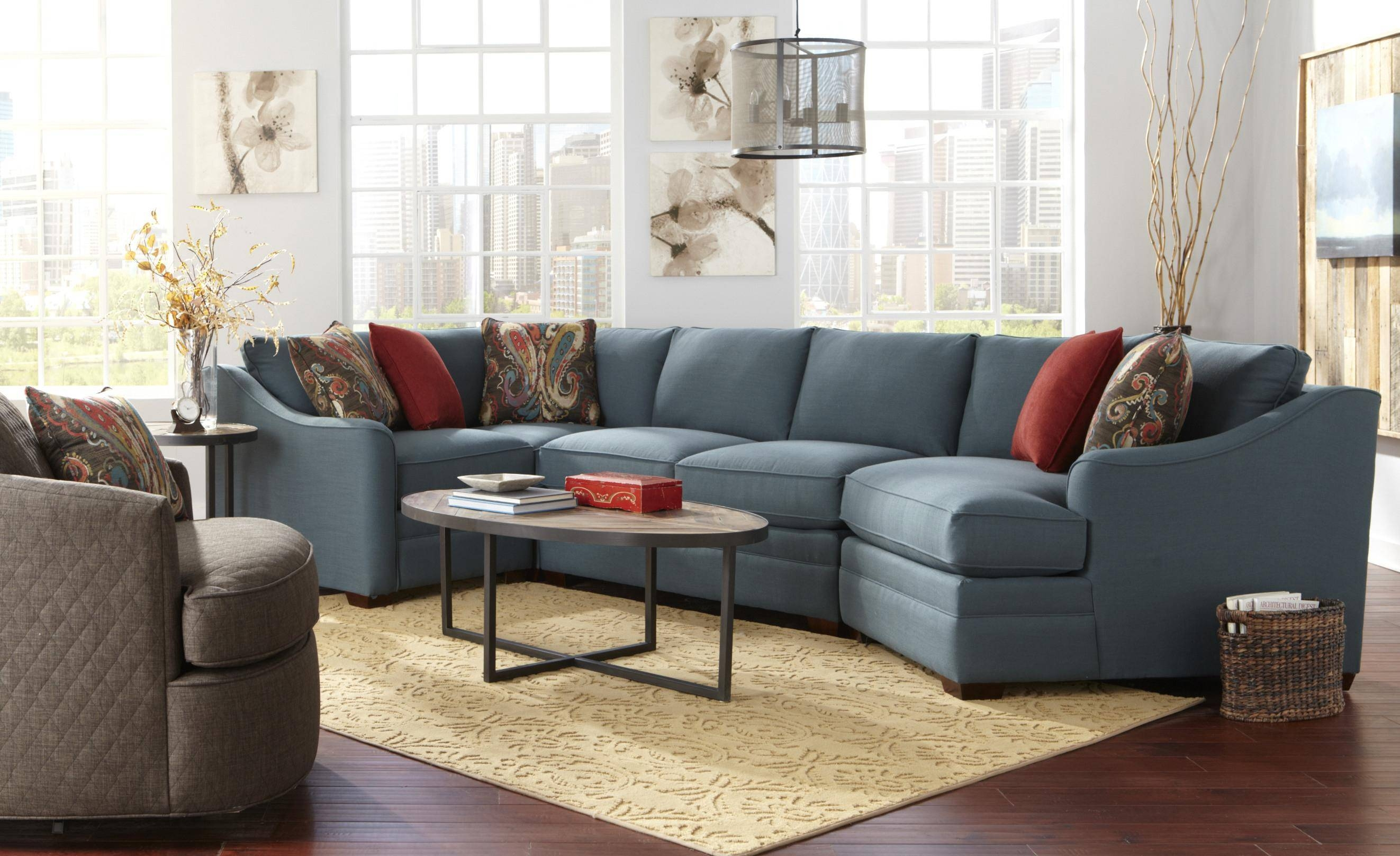 Furnitures: Fill Your Home With Luxury Craftmaster Furniture For within Craftmaster Sectional Sofa (Image 26 of 30)