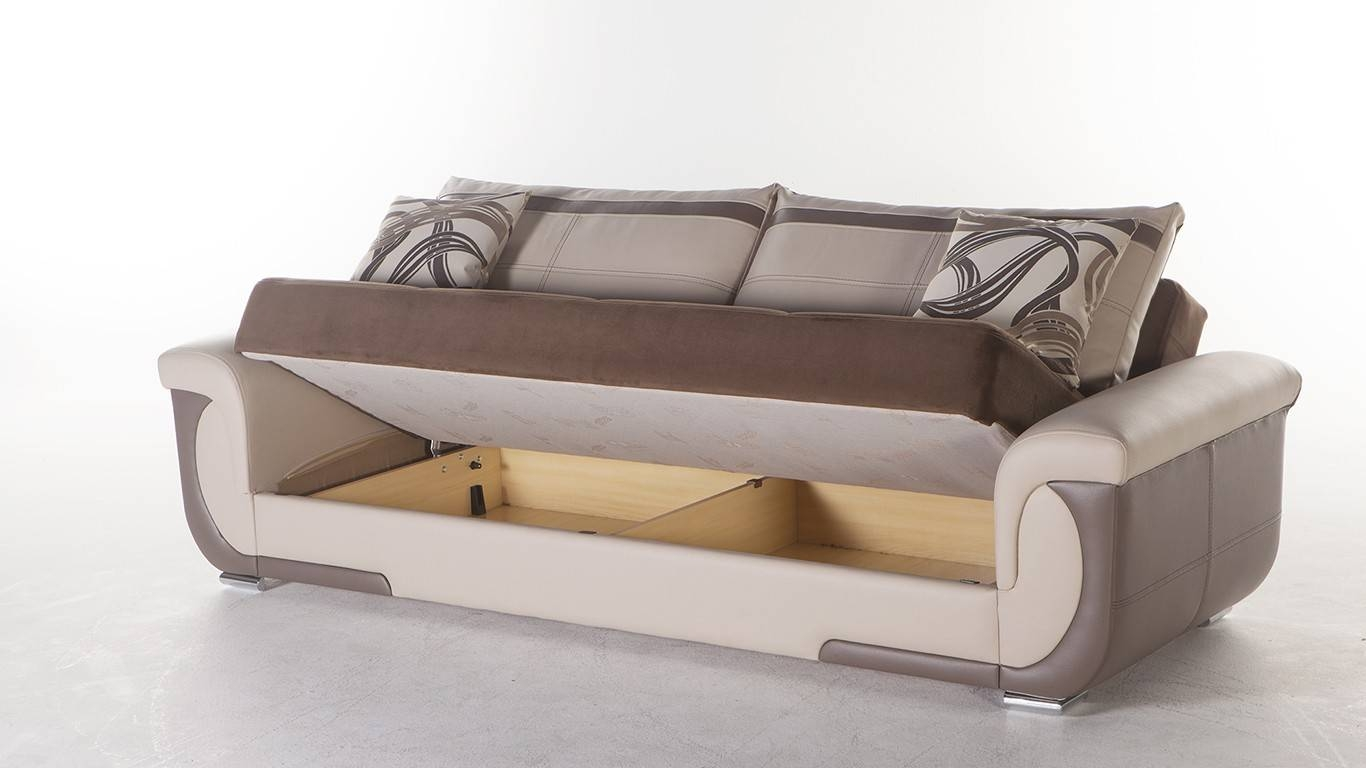 Futon Sofa Beds With Storage | Roselawnlutheran with Storage Sofa Beds (Image 10 of 30)