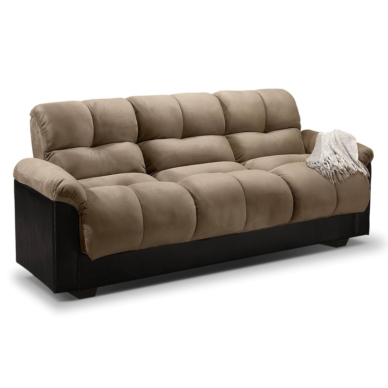 Futons | Living Room Seating | Value City Furniture with Leather Sofa Beds With Storage (Image 16 of 30)