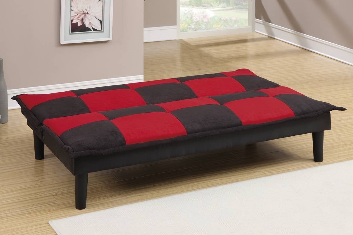 Futons & Sofa Beds, Living Room - Red And Black Sofa Bed within Sofa Red and Black (Image 13 of 25)