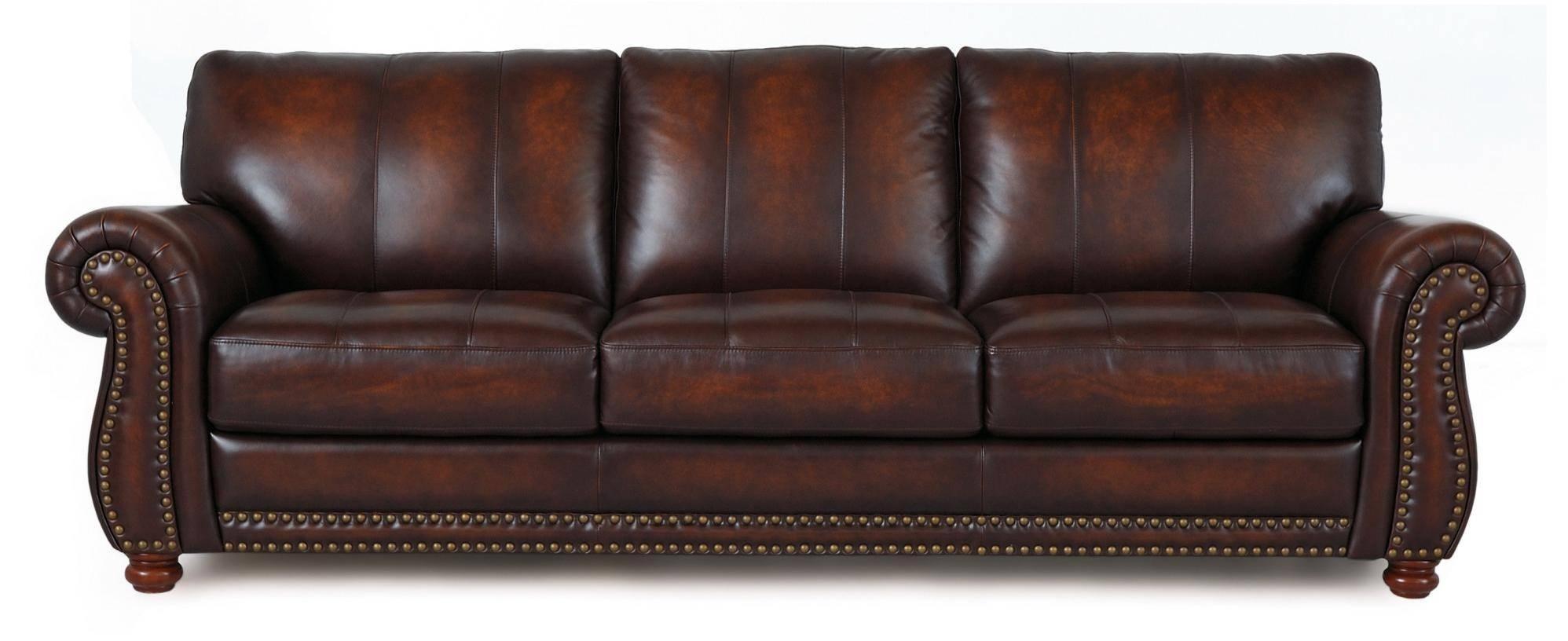 Futura Leather Futura Leather Traditional Leather Sofa With throughout Traditional Leather Couch (Image 11 of 30)
