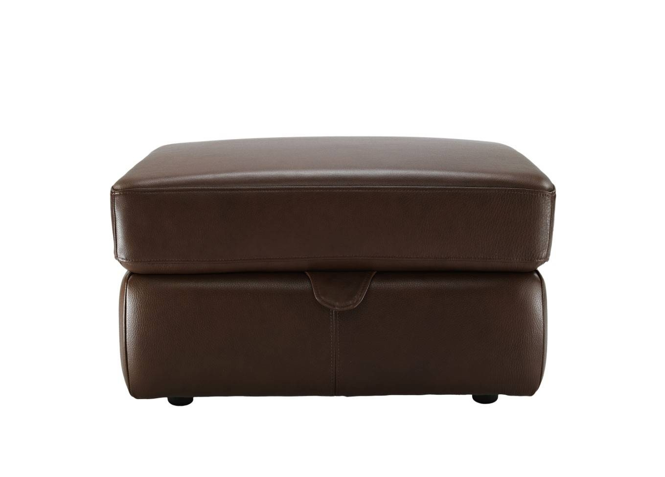 G Plan Washington Leather Storage Footstool | Tr Hayes - Furniture intended for Leather Footstools (Image 11 of 30)