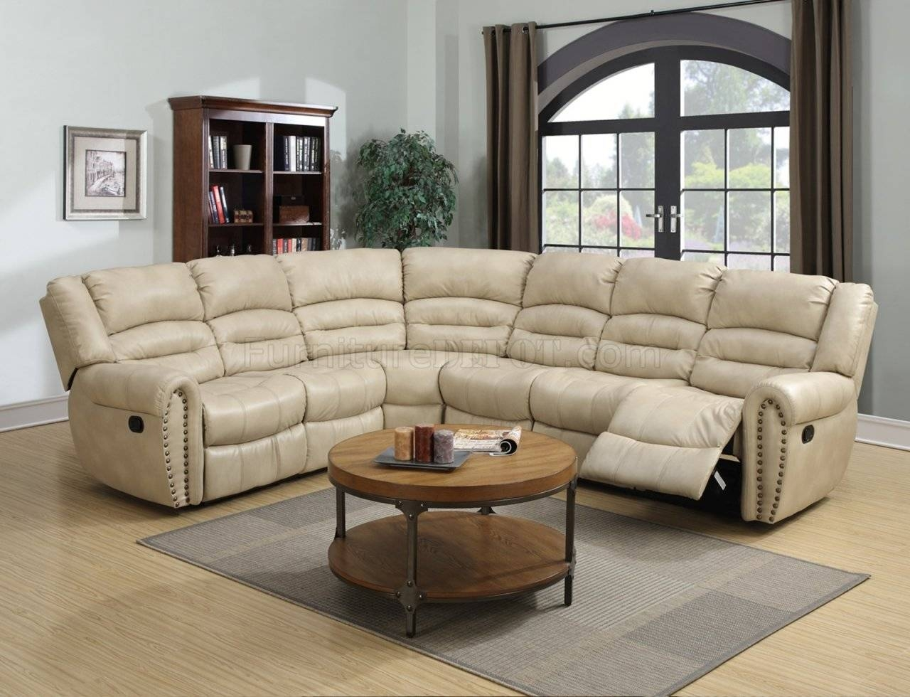 G687 Motion Sectional Sofa In Beige Bonded Leatherglory for Leather Motion Sectional Sofa (Image 14 of 25)