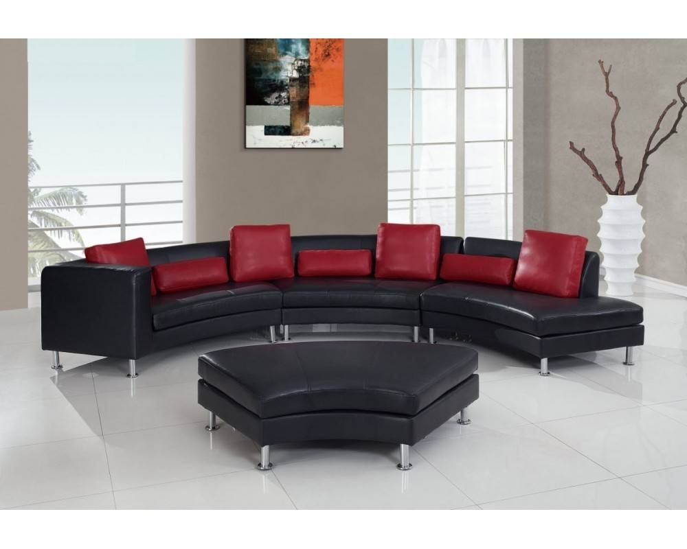 G919 Black/red Sectional Sofa for Red Black Sectional Sofa (Image 15 of 30)