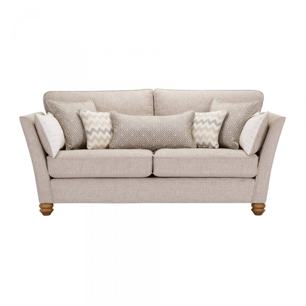 Gainsborough 3 Seater Sofa In Beige | Oak Furniture Land inside Large 4 Seater Sofas (Image 9 of 30)