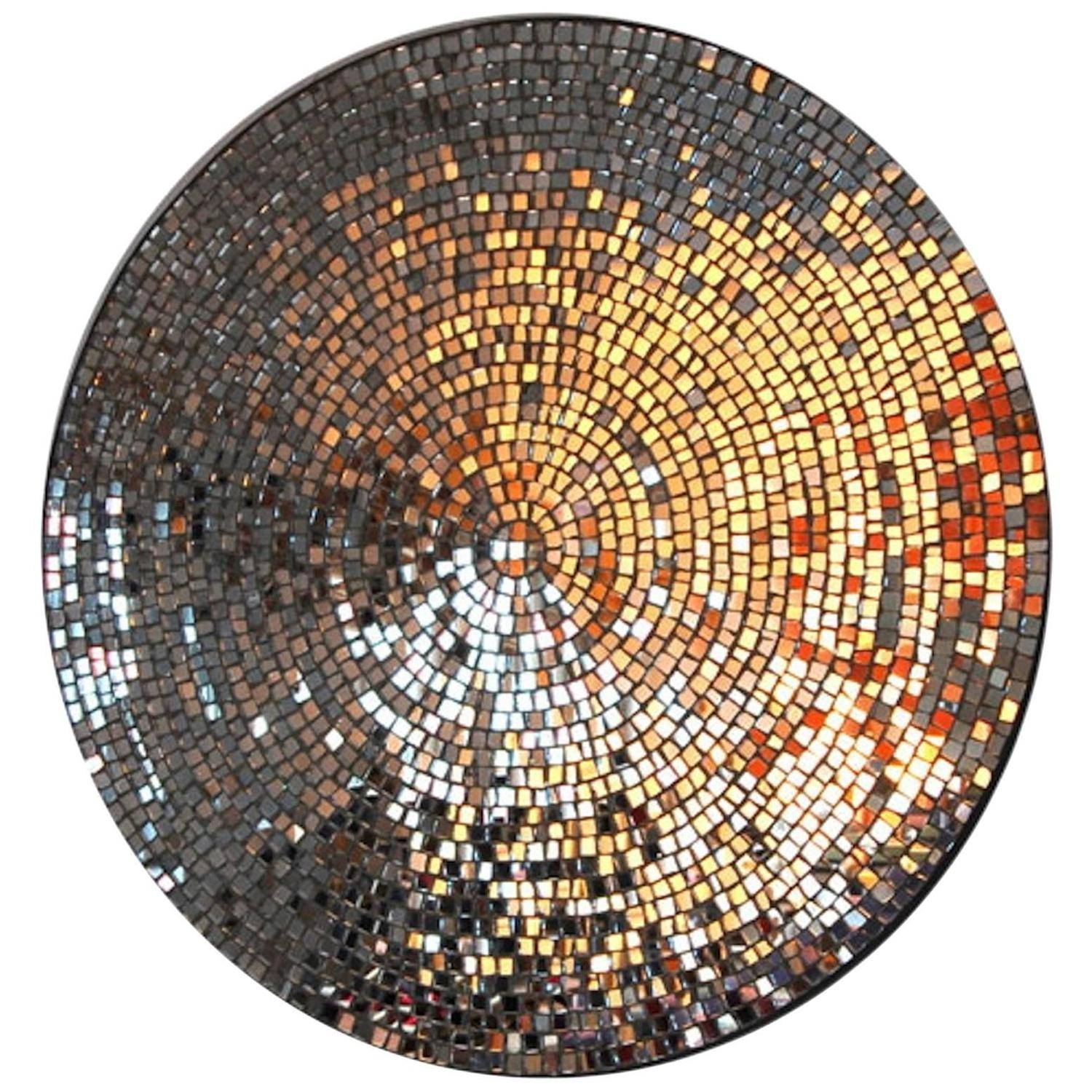 Galla Mosaic Mirror For Sale At 1Stdibs in Mosaic Mirrors (Image 7 of 25)