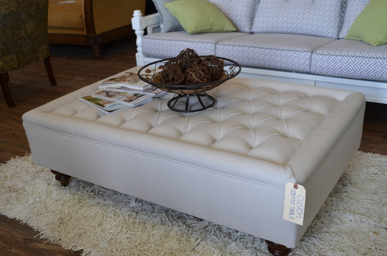 Gallery Images Of Upholstered Coffee Table – Fabric Coffee Table regarding Fabric Coffee Tables (Image 25 of 30)