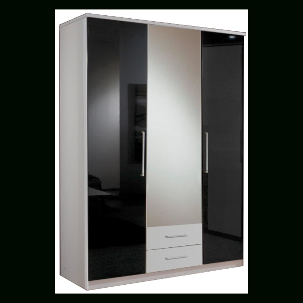 Gamma Black & White Gloss 3 Door 2 Drawer Wardrobe | Sabba Furniture in 3 Door Black Gloss Wardrobes (Image 8 of 15)
