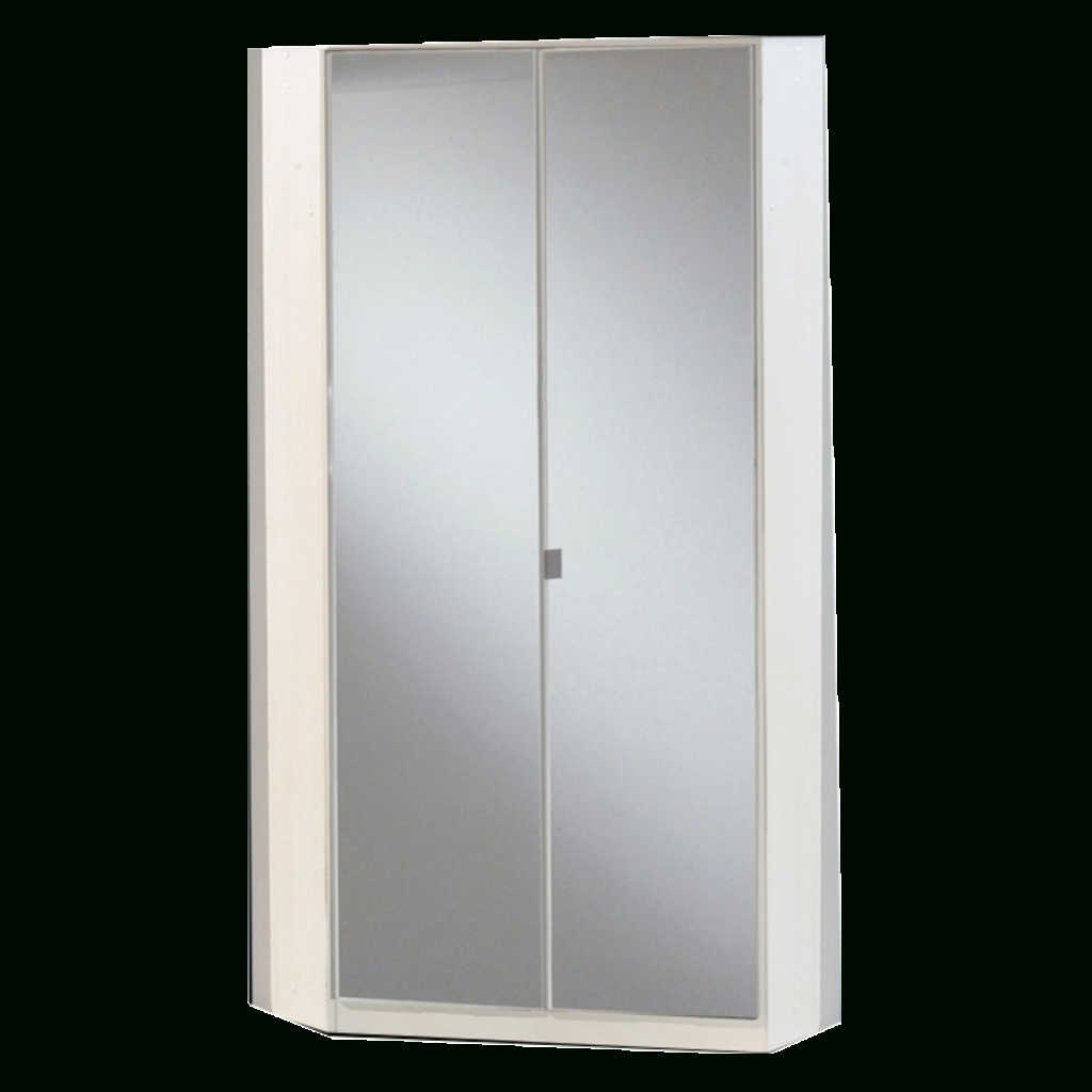 Gamma White & Mirrored Corner Wardrobe | Sabba Furniture pertaining to Mirrored Corner Wardrobes (Image 10 of 15)