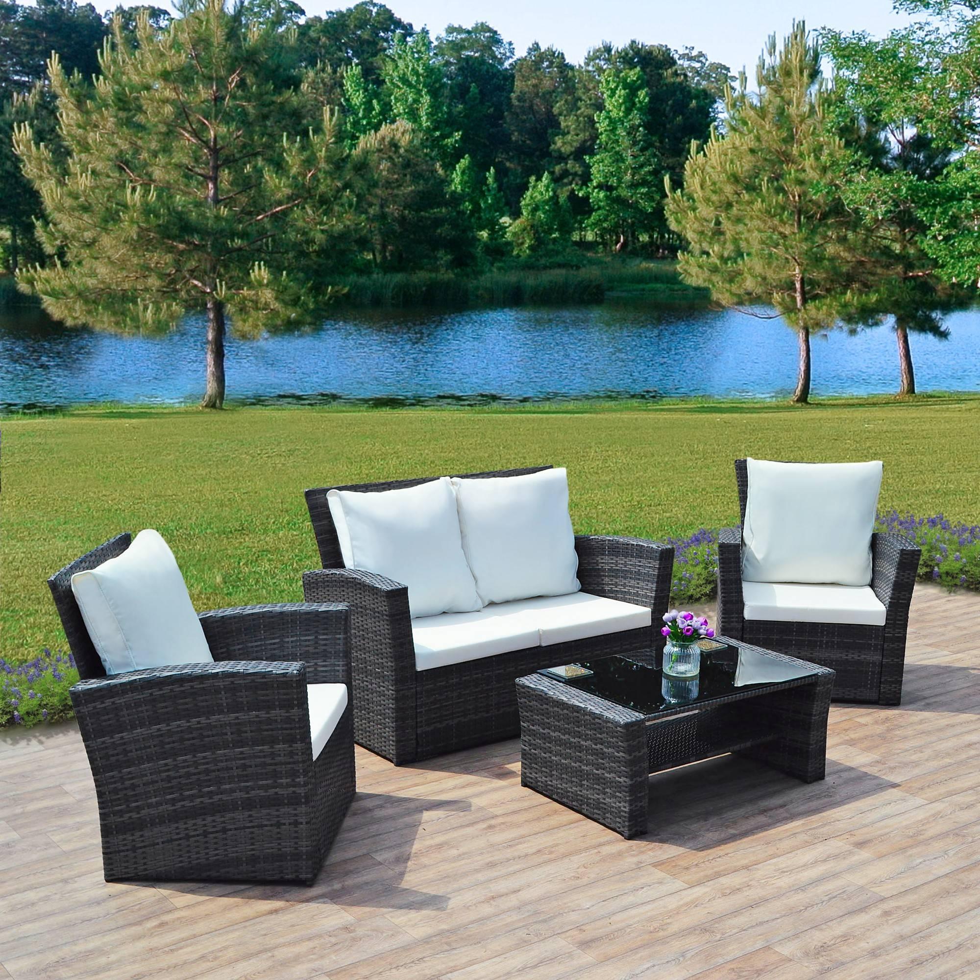 Garden Furniture Rattan Sofa | Roselawnlutheran throughout Garden Sofa Covers (Image 14 of 26)