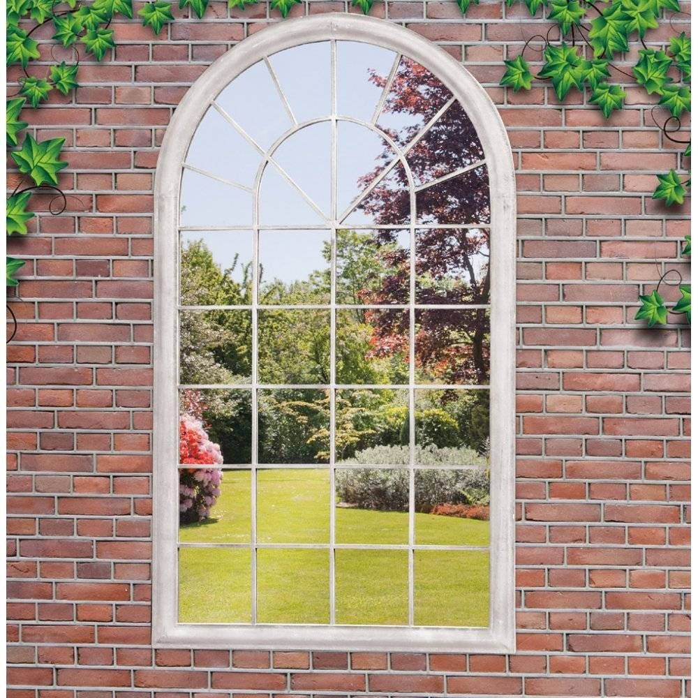 Garden Mirror Large Full Arch Architectural Window Mirror Garden with Garden Window Mirrors (Image 12 of 25)