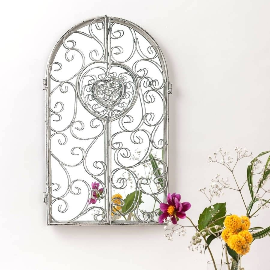 Garden Window Mirrorgarden Mirror Turquoise White – Shopwiz For Garden Window Mirrors (Photo 11 of 25)