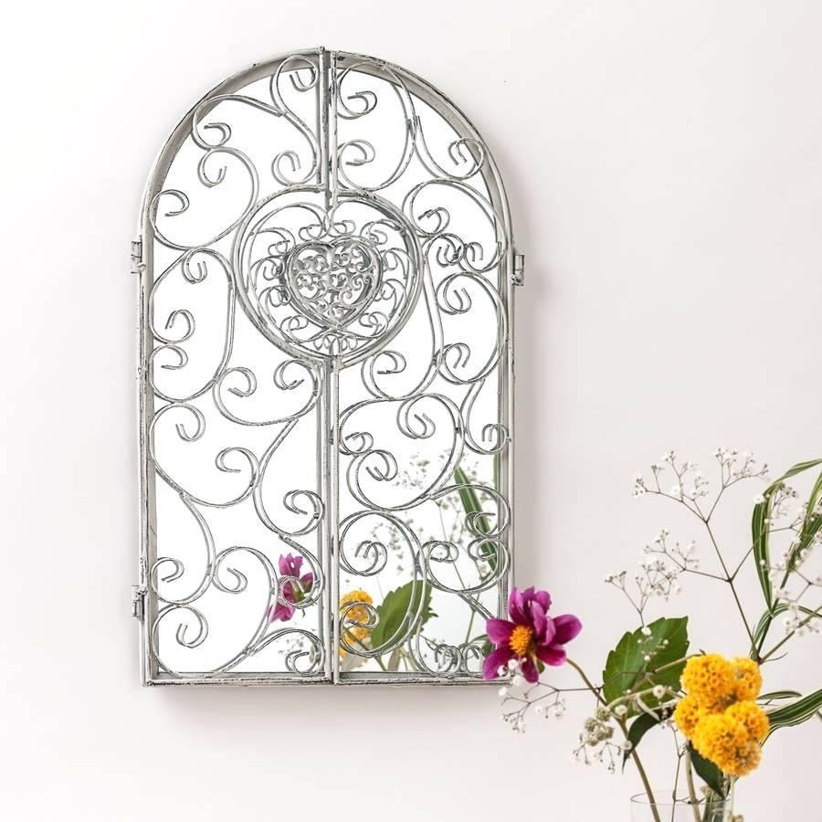 Garden Window Mirrorgarden Mirror Turquoise White – Shopwiz for Garden Window Mirrors (Image 14 of 25)